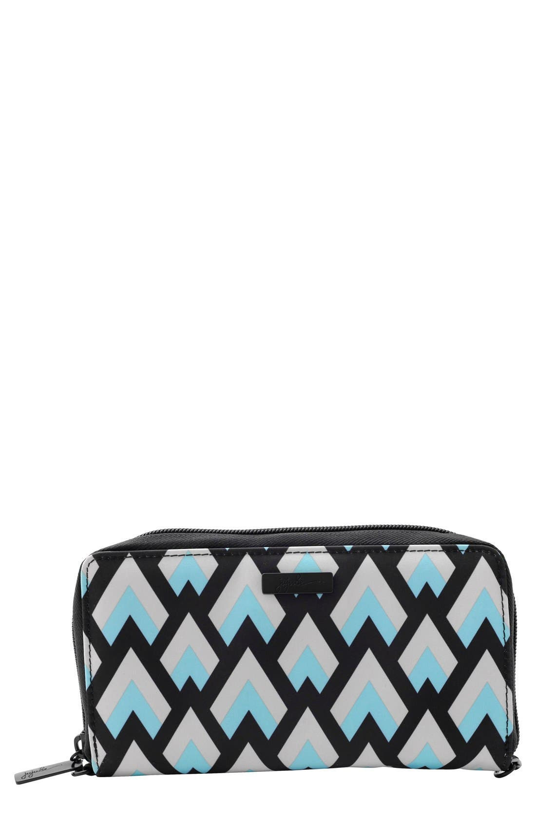JU-JU-BE,                             Onyx Be Spendy Clutch Wallet,                             Main thumbnail 1, color,                             003