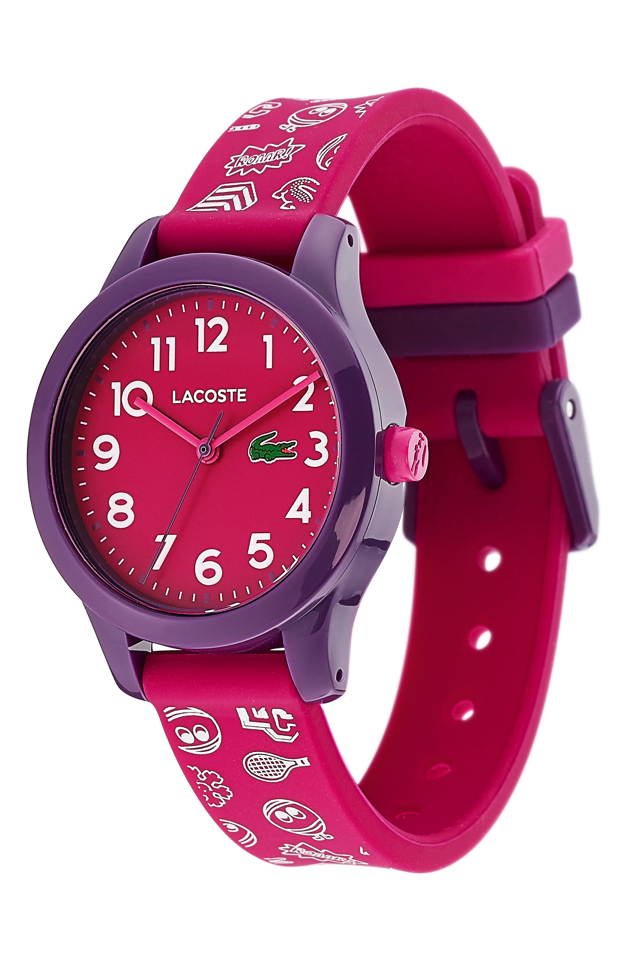 12.12 Rubber Strap Watch, 32mm,                             Alternate thumbnail 3, color,                             PINK