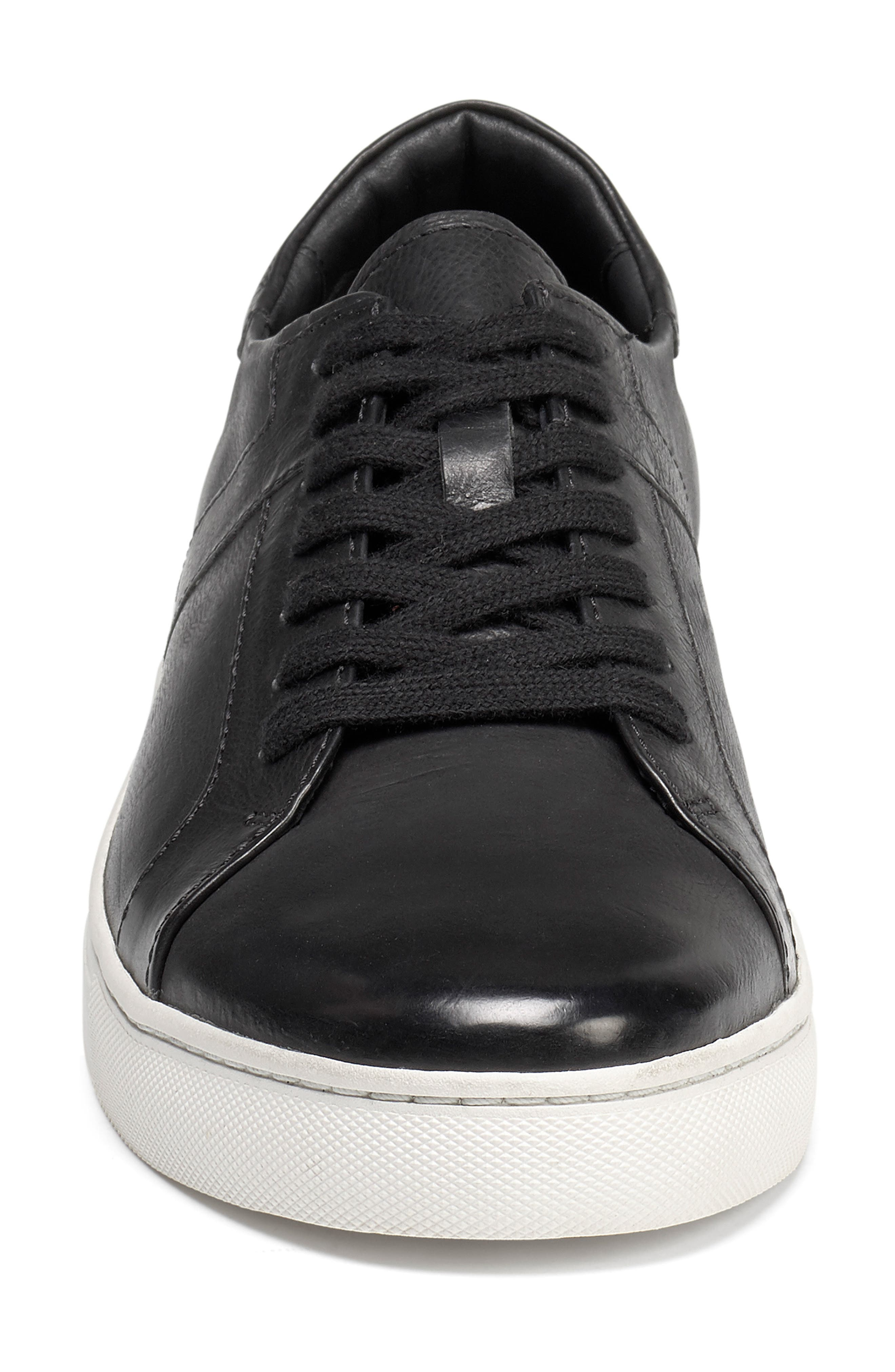 Aaron Sneaker,                             Alternate thumbnail 4, color,                             BLACK LEATHER