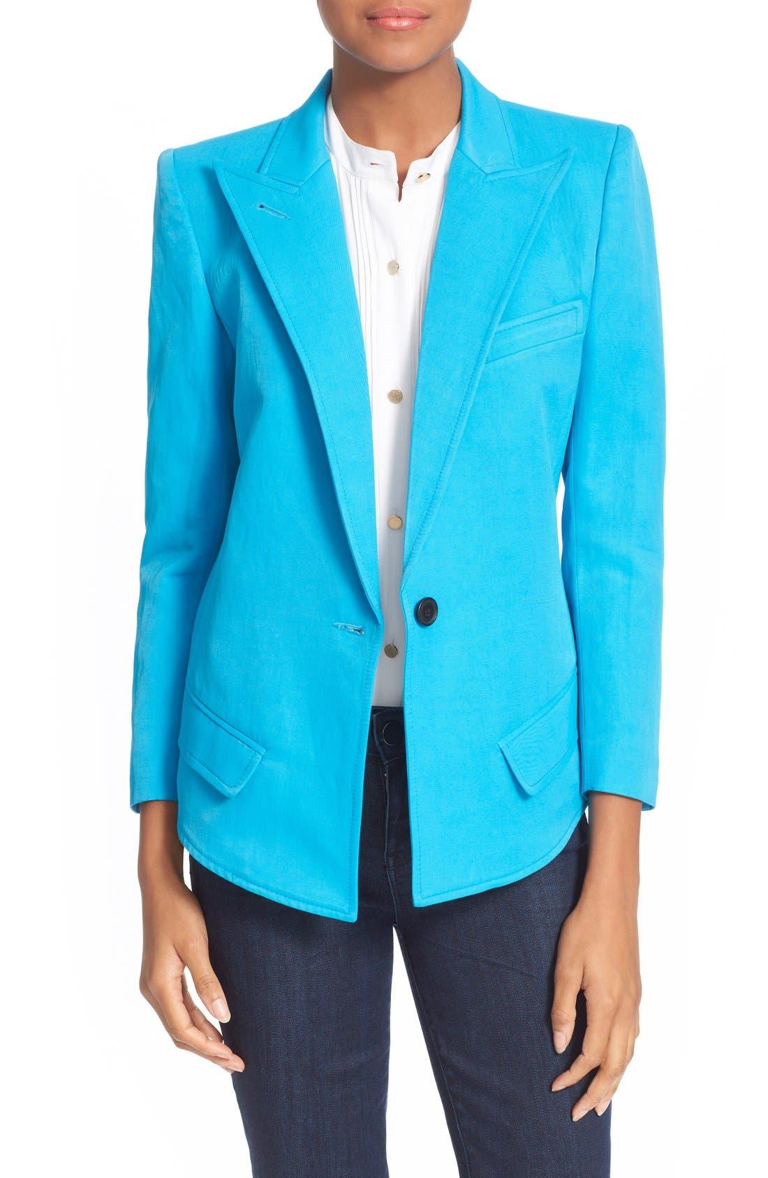 Sharp Shoulder Blazer, Main, color, 421