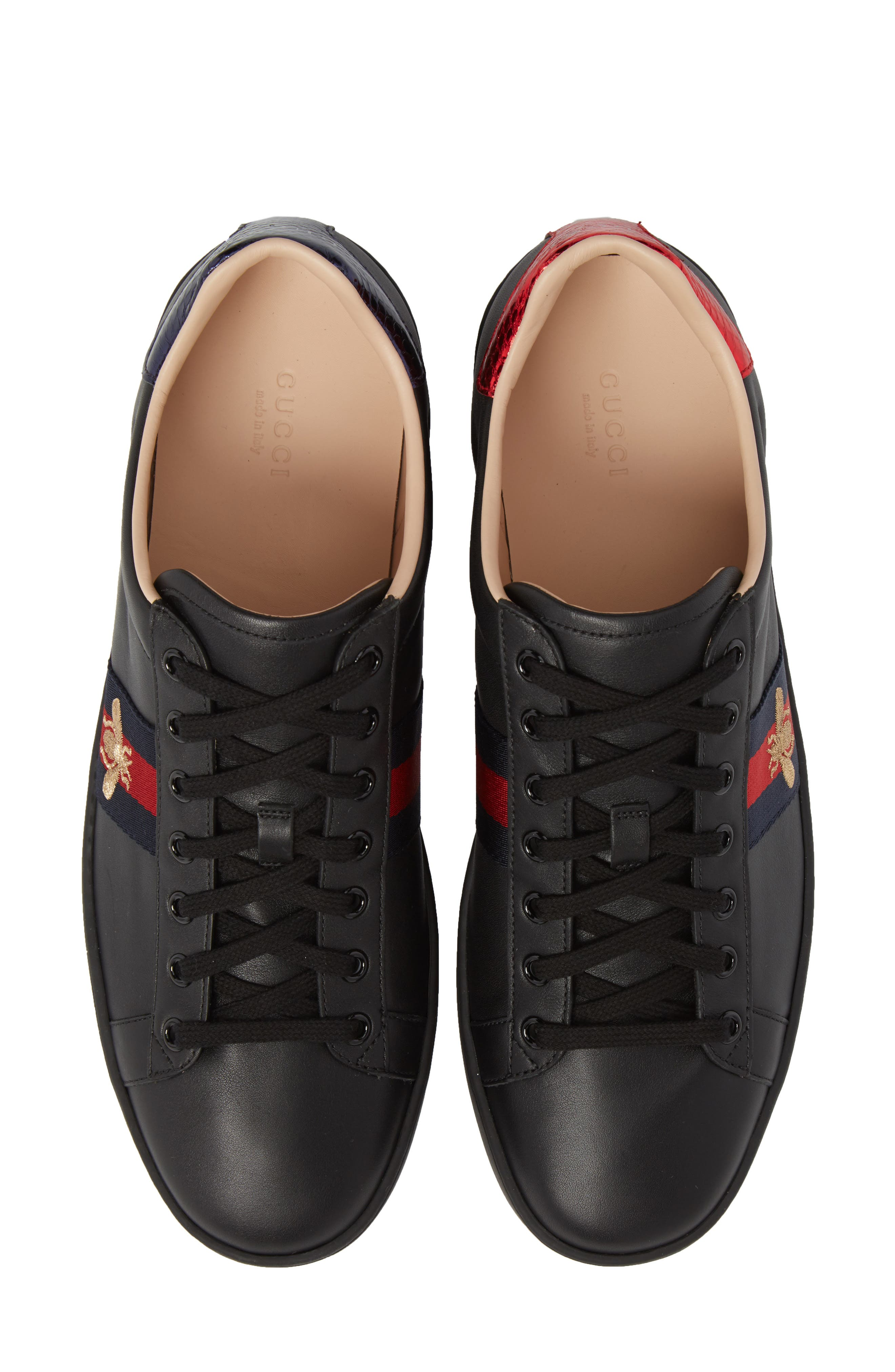 New Ace Sneaker,                             Alternate thumbnail 5, color,                             BLACK LEATHER