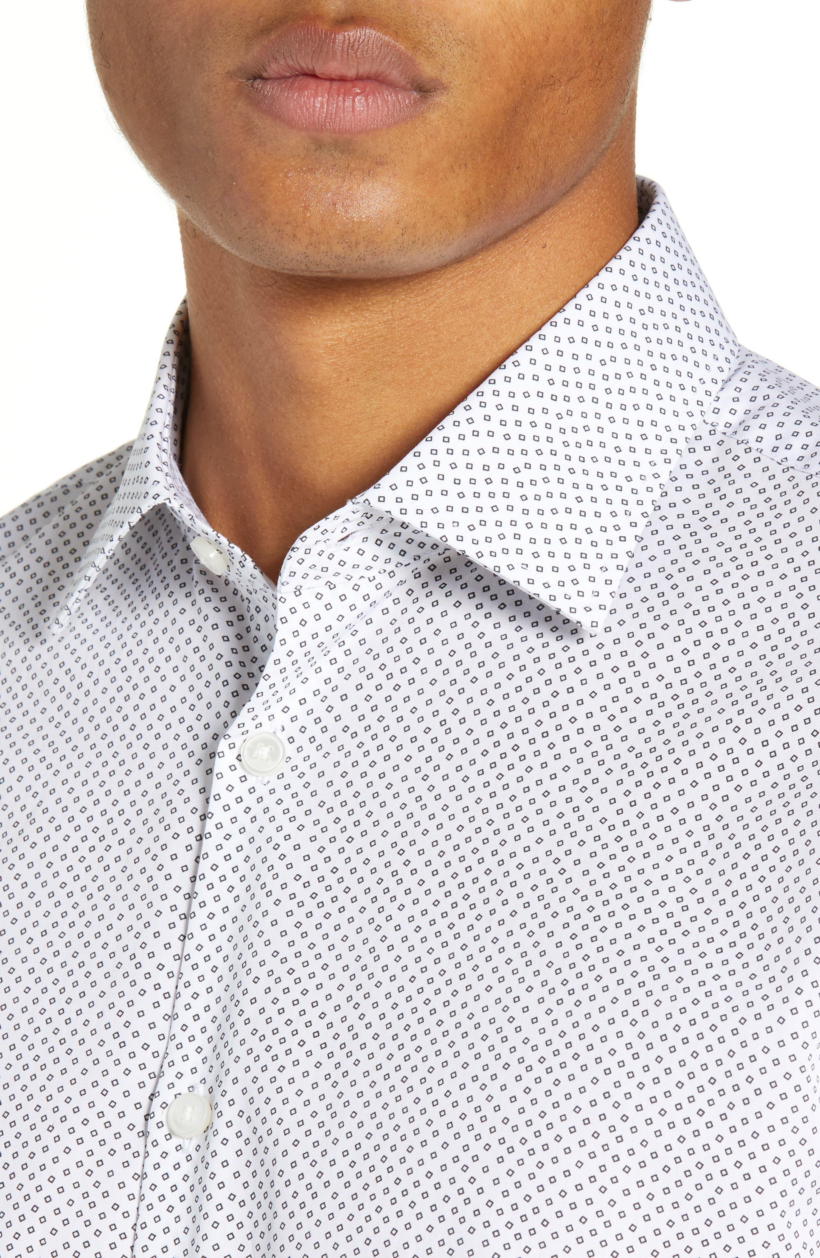 Regular Fit Print Dress Shirt,                             Alternate thumbnail 2, color,                             SALT