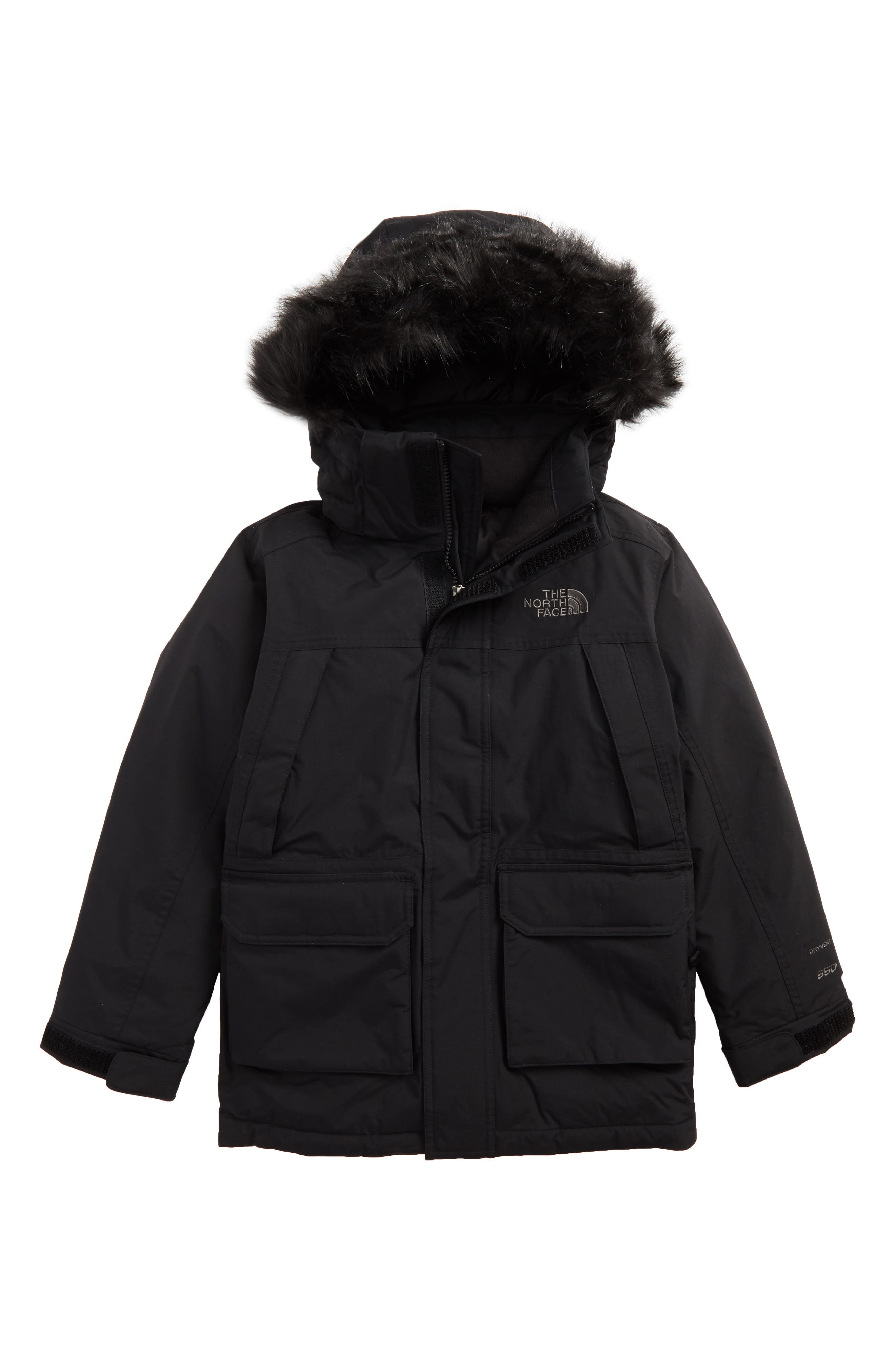 McMurdo Waterproof Down Parka with Faux Fur Trim,                         Main,                         color, 001