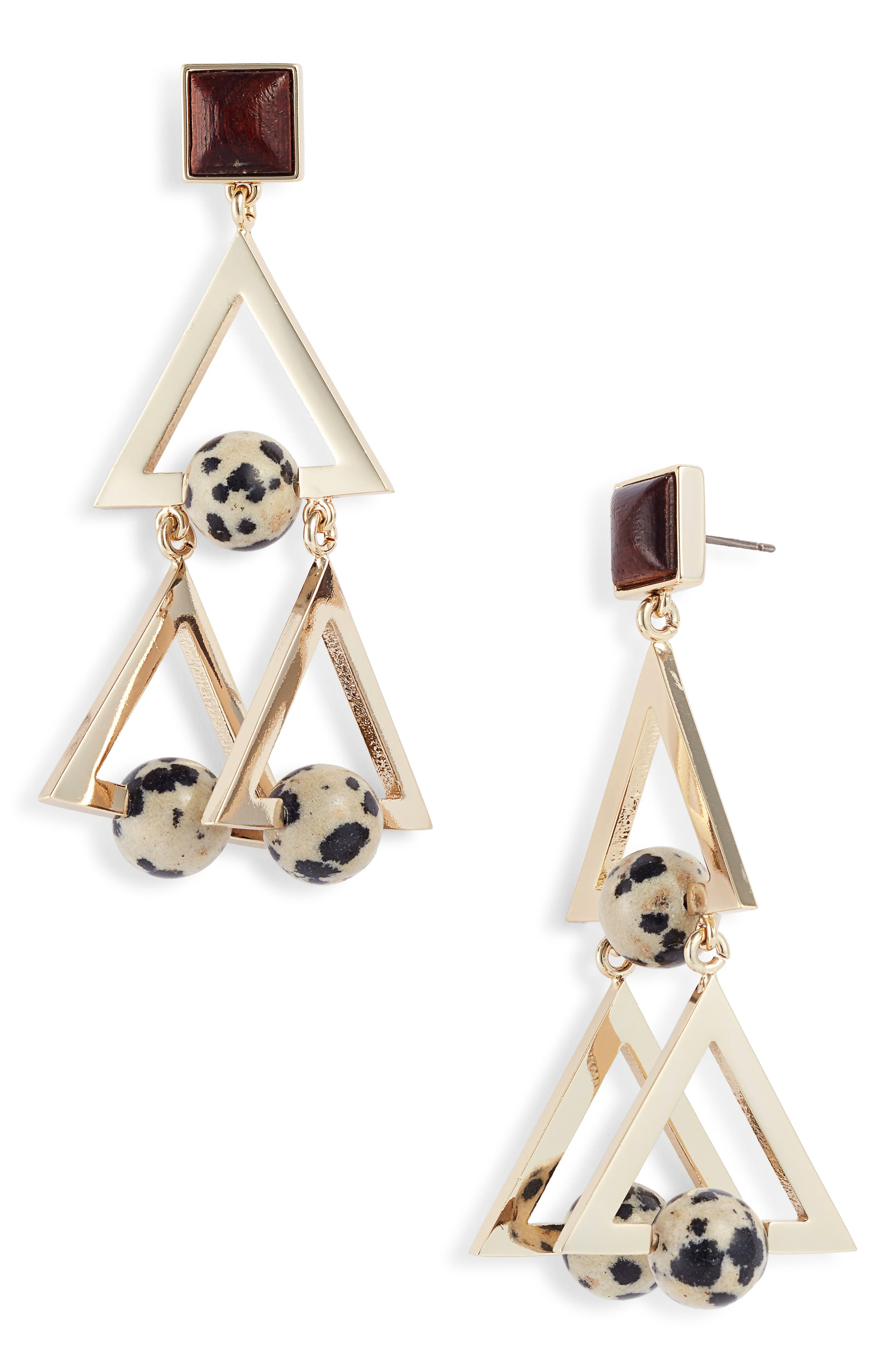 Tory Burch STONE STUDDED STATEMENT EARRINGS