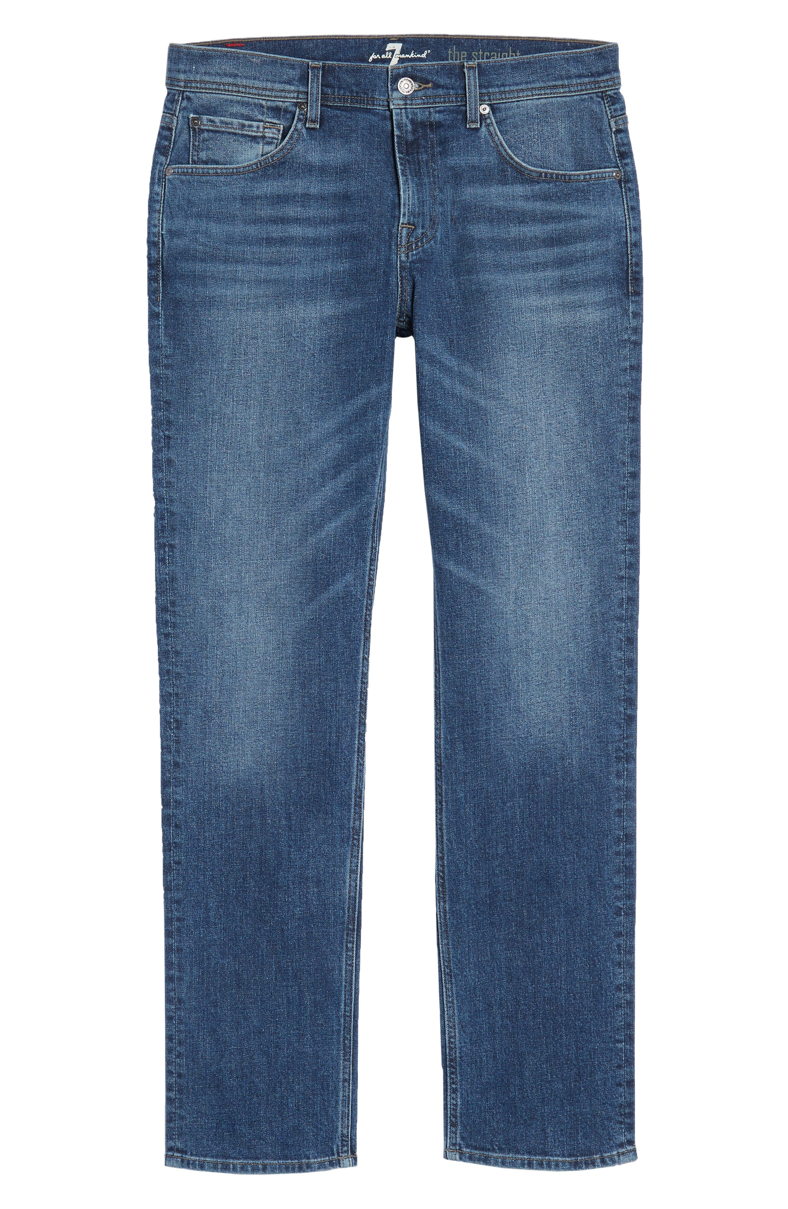 The Straight Slim Straight Fit Jeans,                             Alternate thumbnail 6, color,                             SINAI
