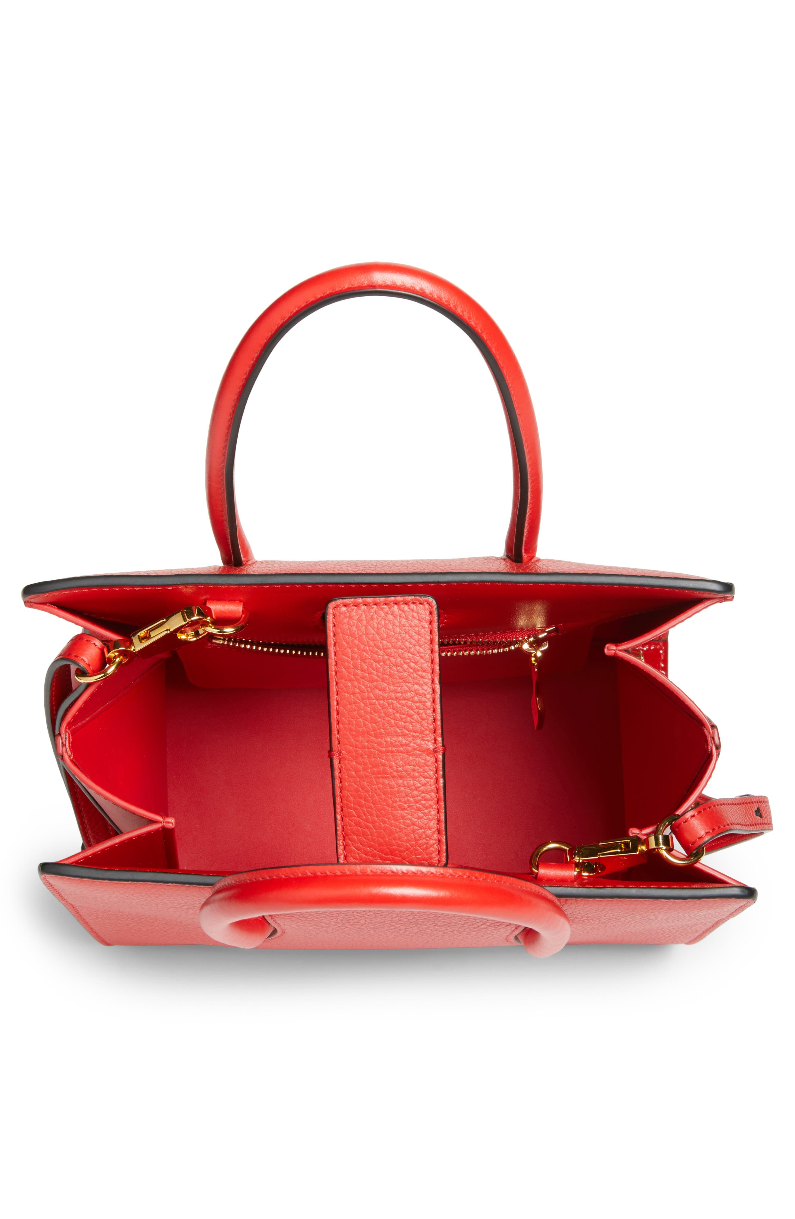 Small Paloma Empire Leather Tote,                             Alternate thumbnail 3, color,                             RED/ RED