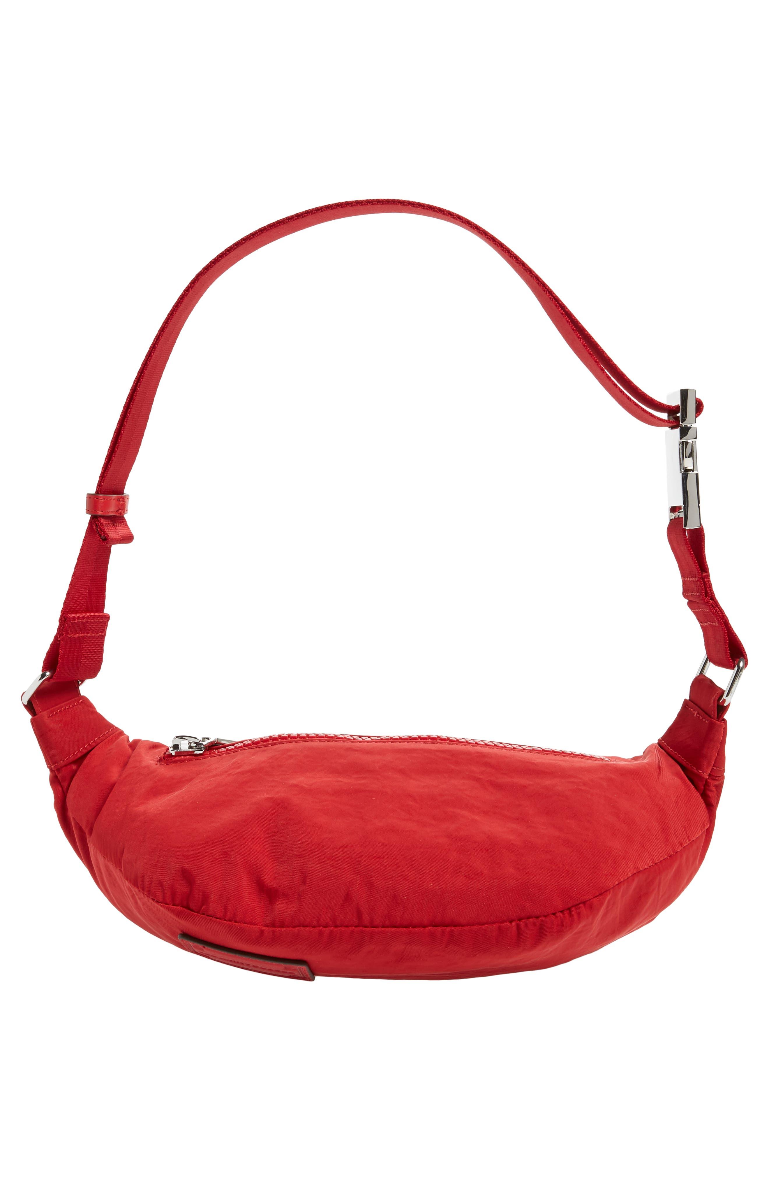 Nylon Belt Bag,                             Alternate thumbnail 7, color,                             SCARLET