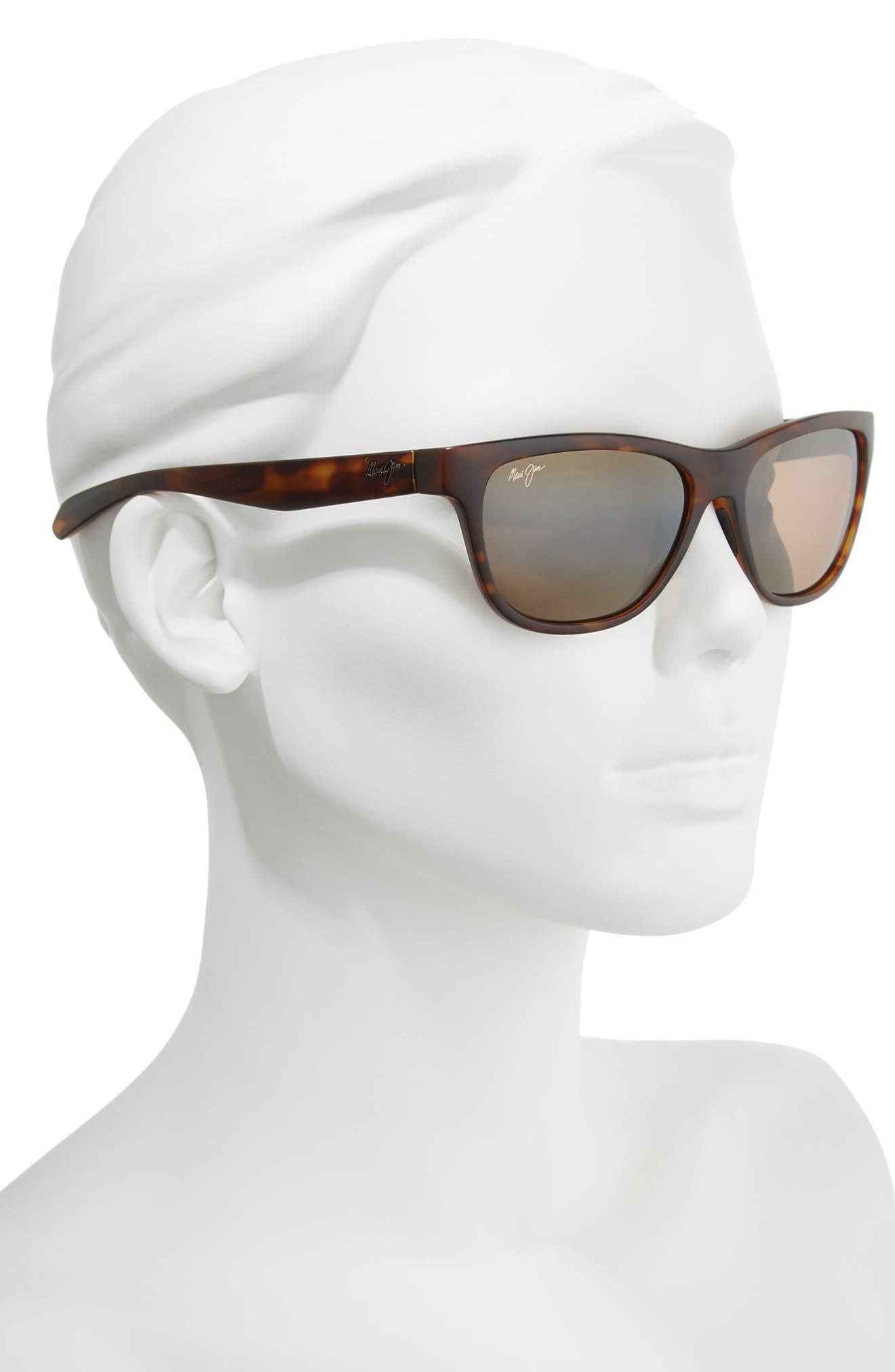 Secrets 56mm PolarizedPlus2<sup>®</sup> Sunglasses,                             Alternate thumbnail 2, color,                             MATTE TORTOISE/ BRONZE