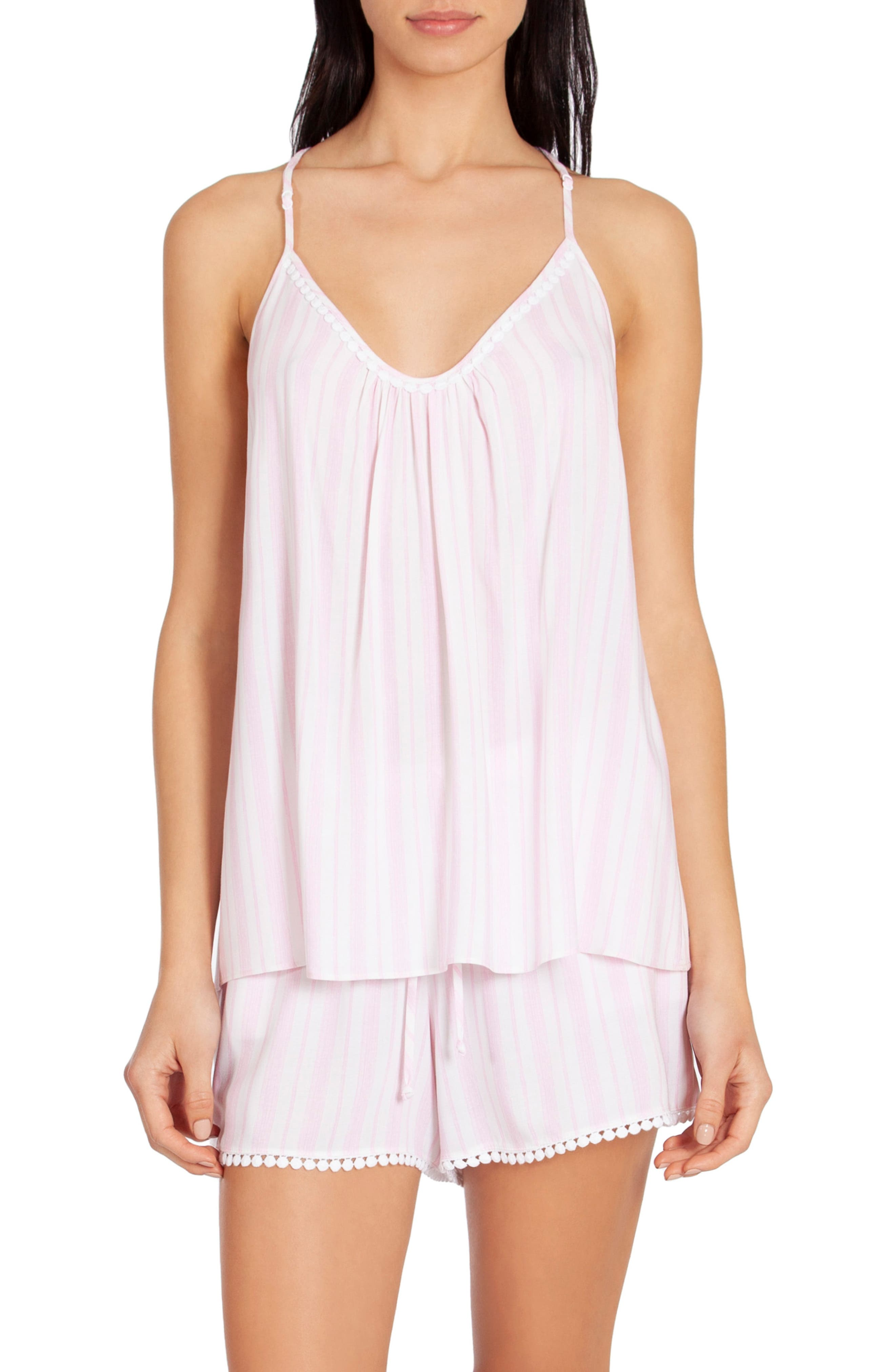In Bloom By Jonquil Stripe Short Pajamas, Pink