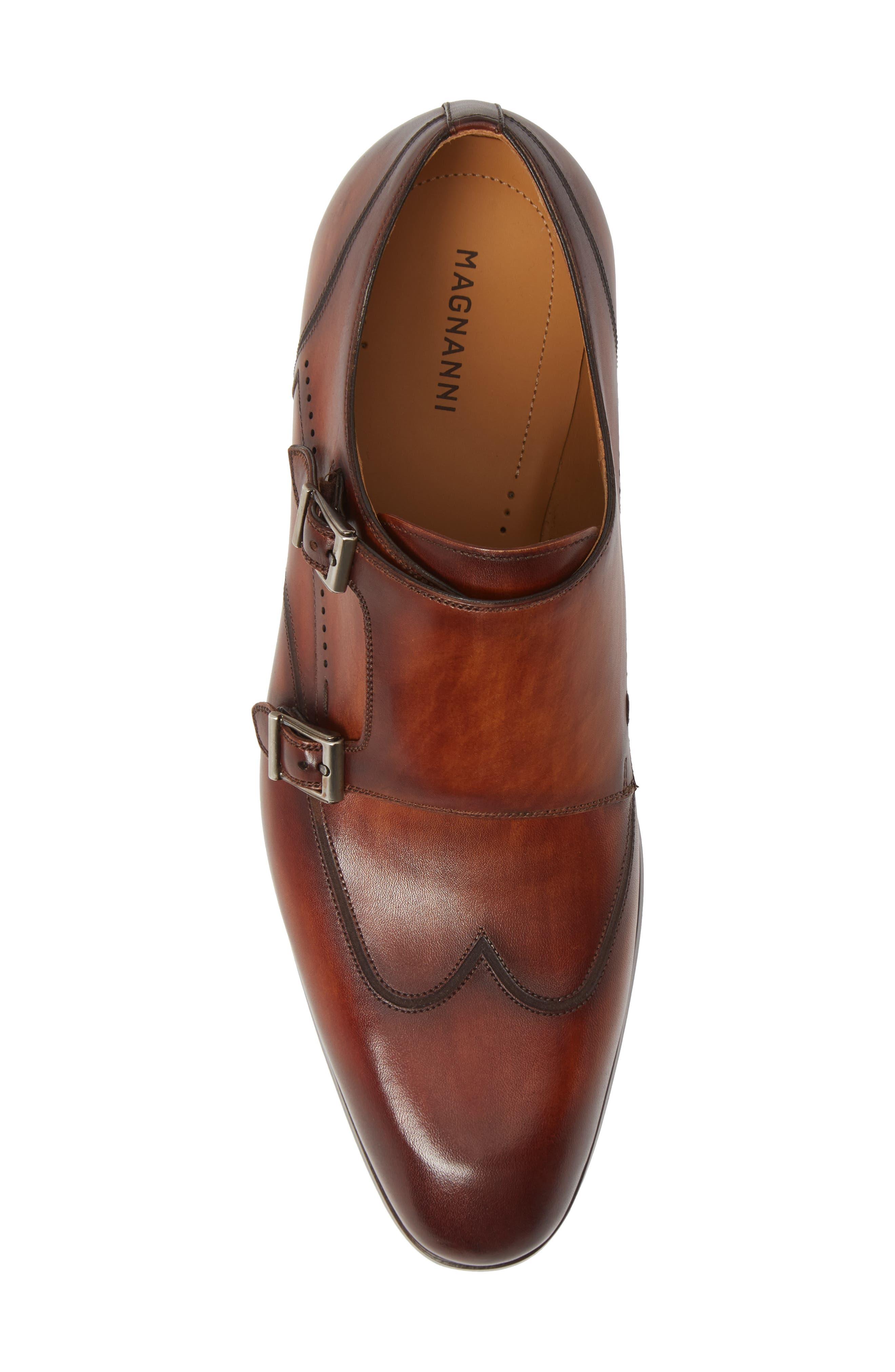 Camden Double Monk Strap Shoe,                             Alternate thumbnail 5, color,                             202
