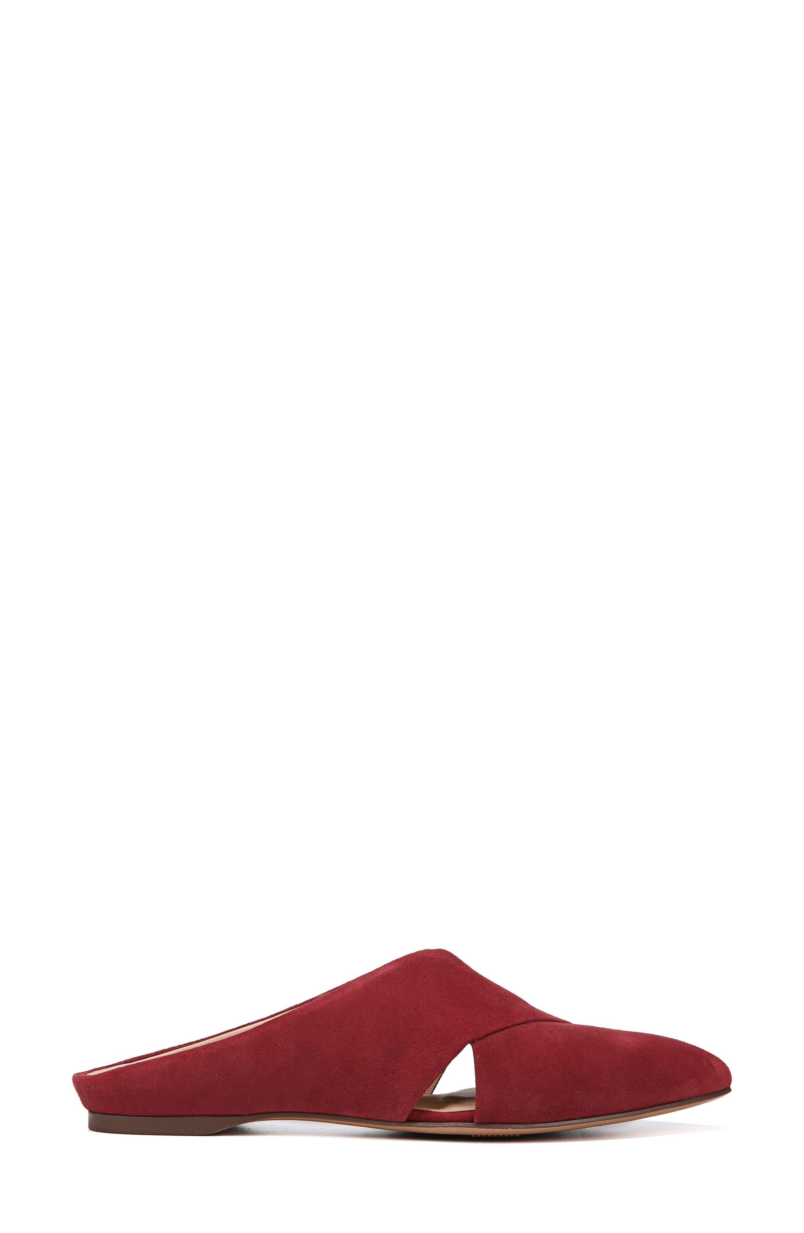 Simonette Mule,                             Alternate thumbnail 3, color,                             LUSH RED SUEDE
