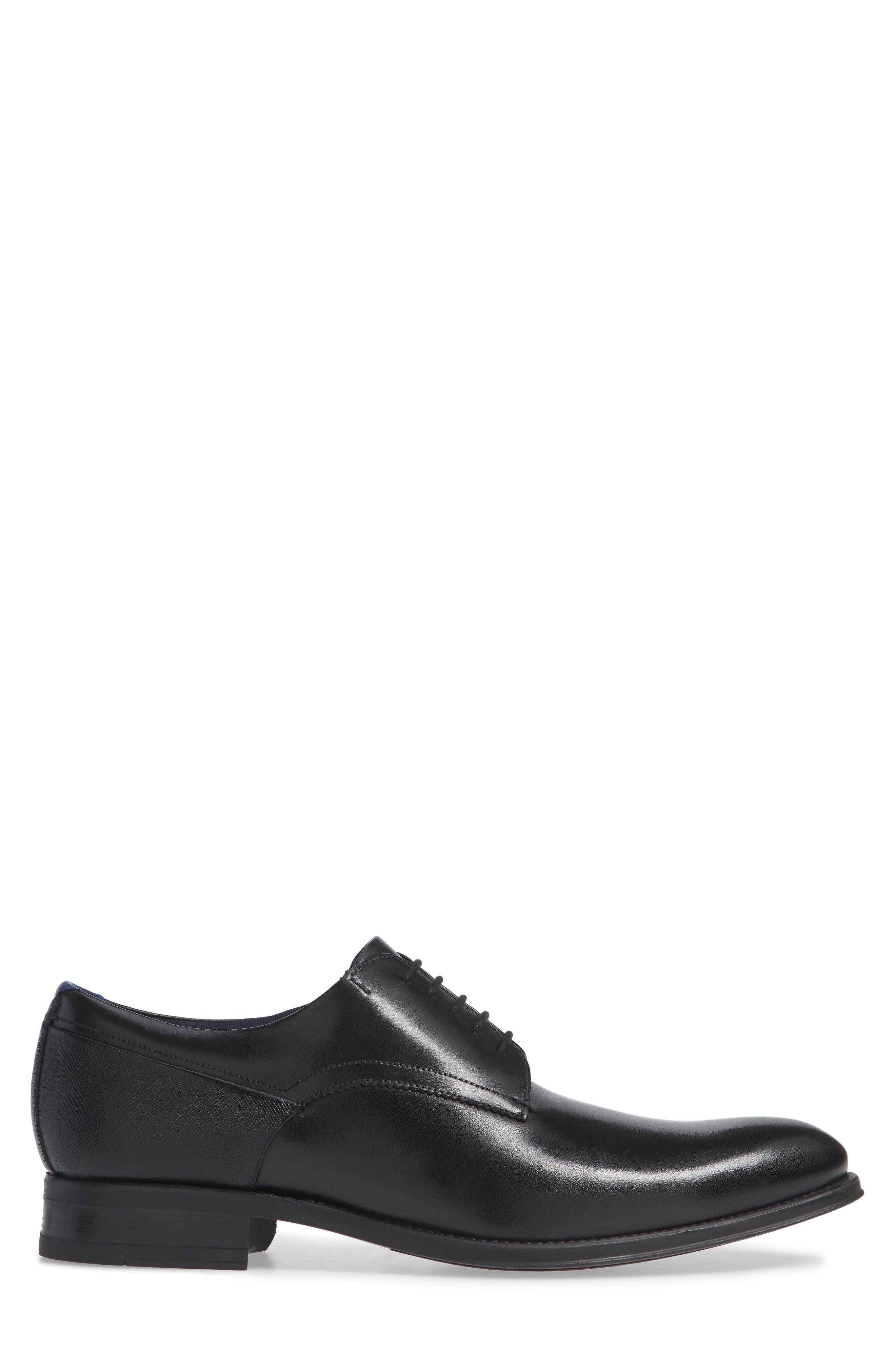 Jusdim Plain Toe Derby,                             Alternate thumbnail 3, color,                             BLACK