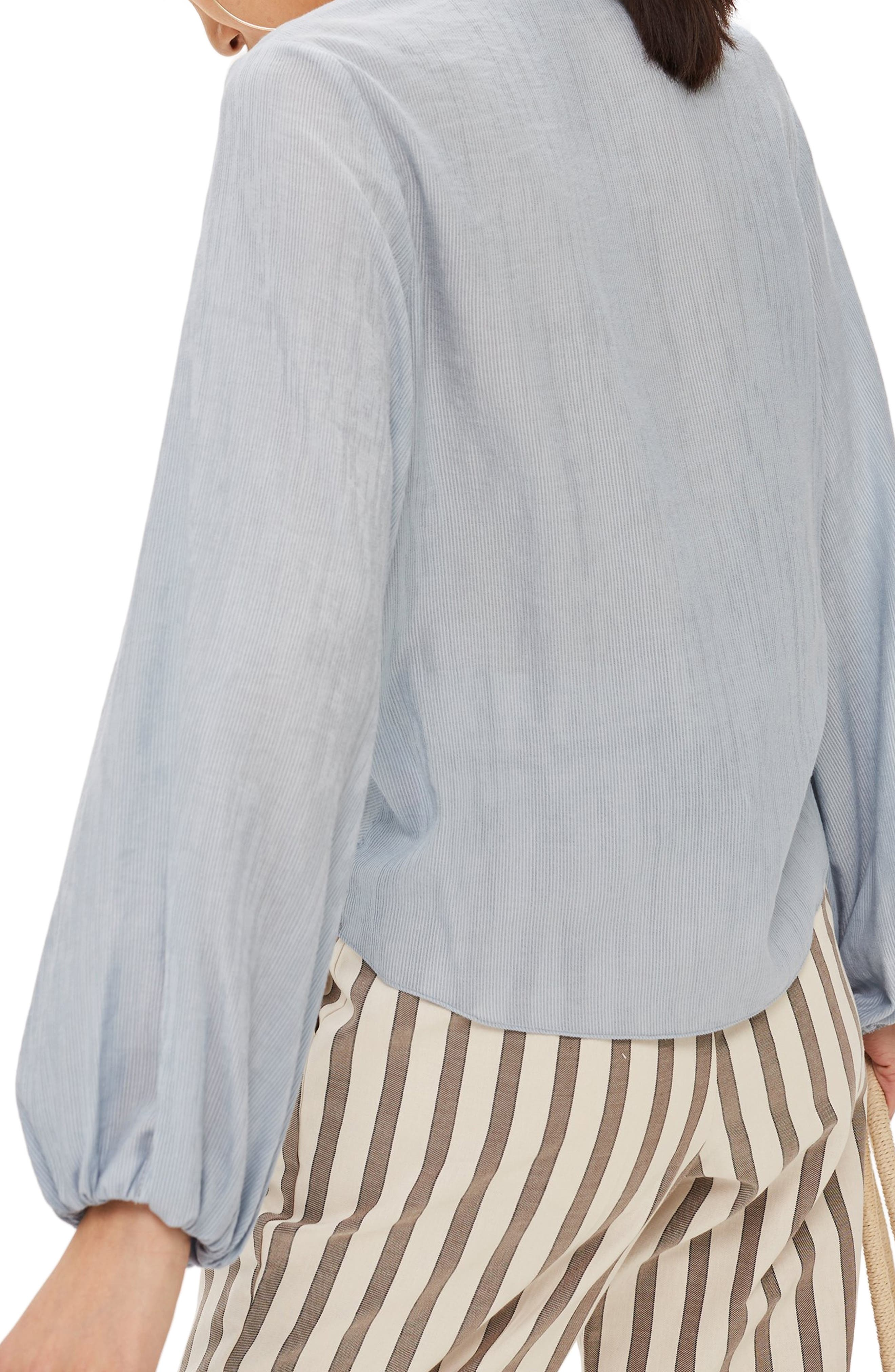 Casual Draped Top,                             Alternate thumbnail 2, color,                             LIGHT GREY