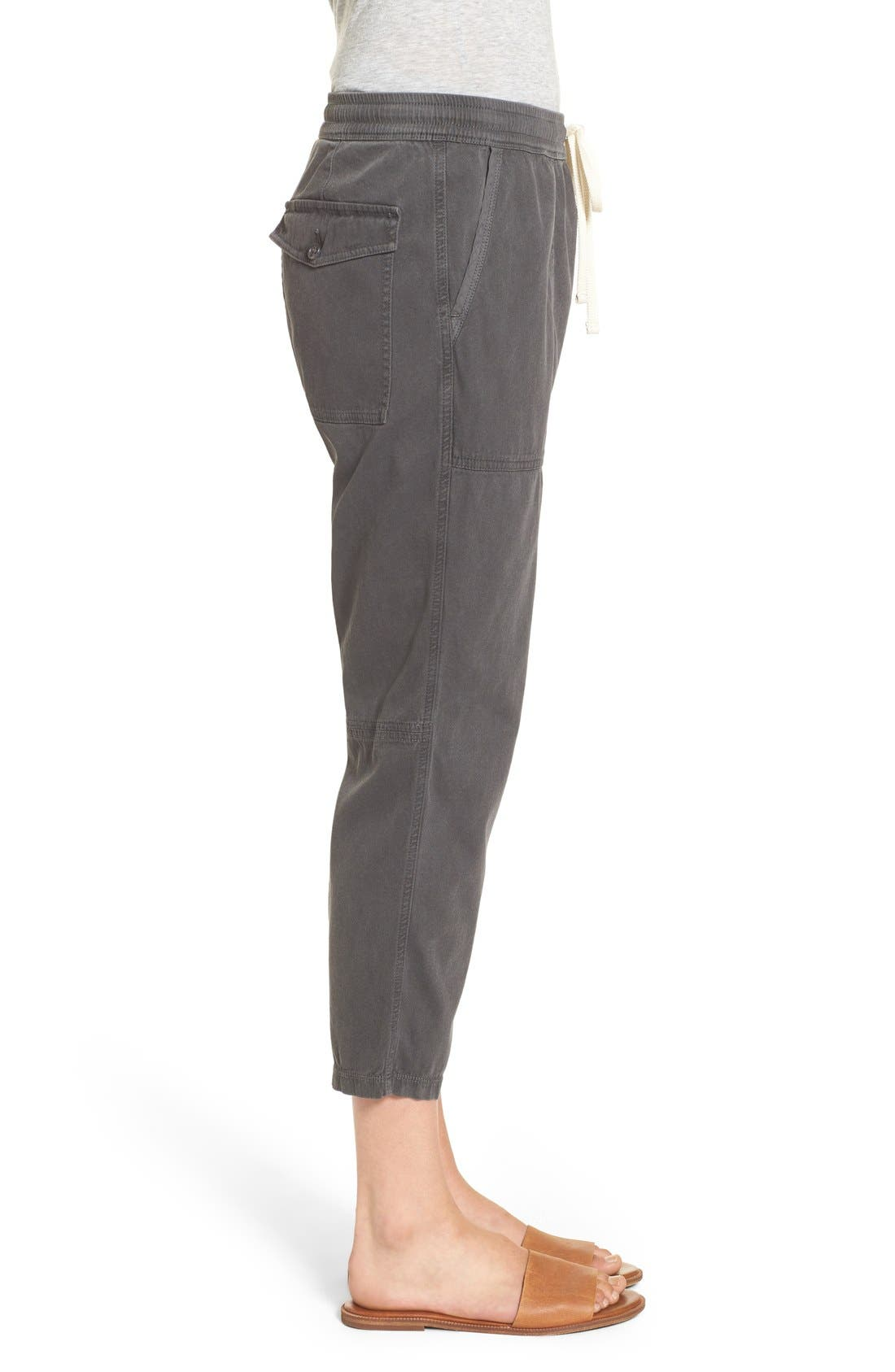 Relaxed Crop Twill Pants,                             Alternate thumbnail 2, color,                             203