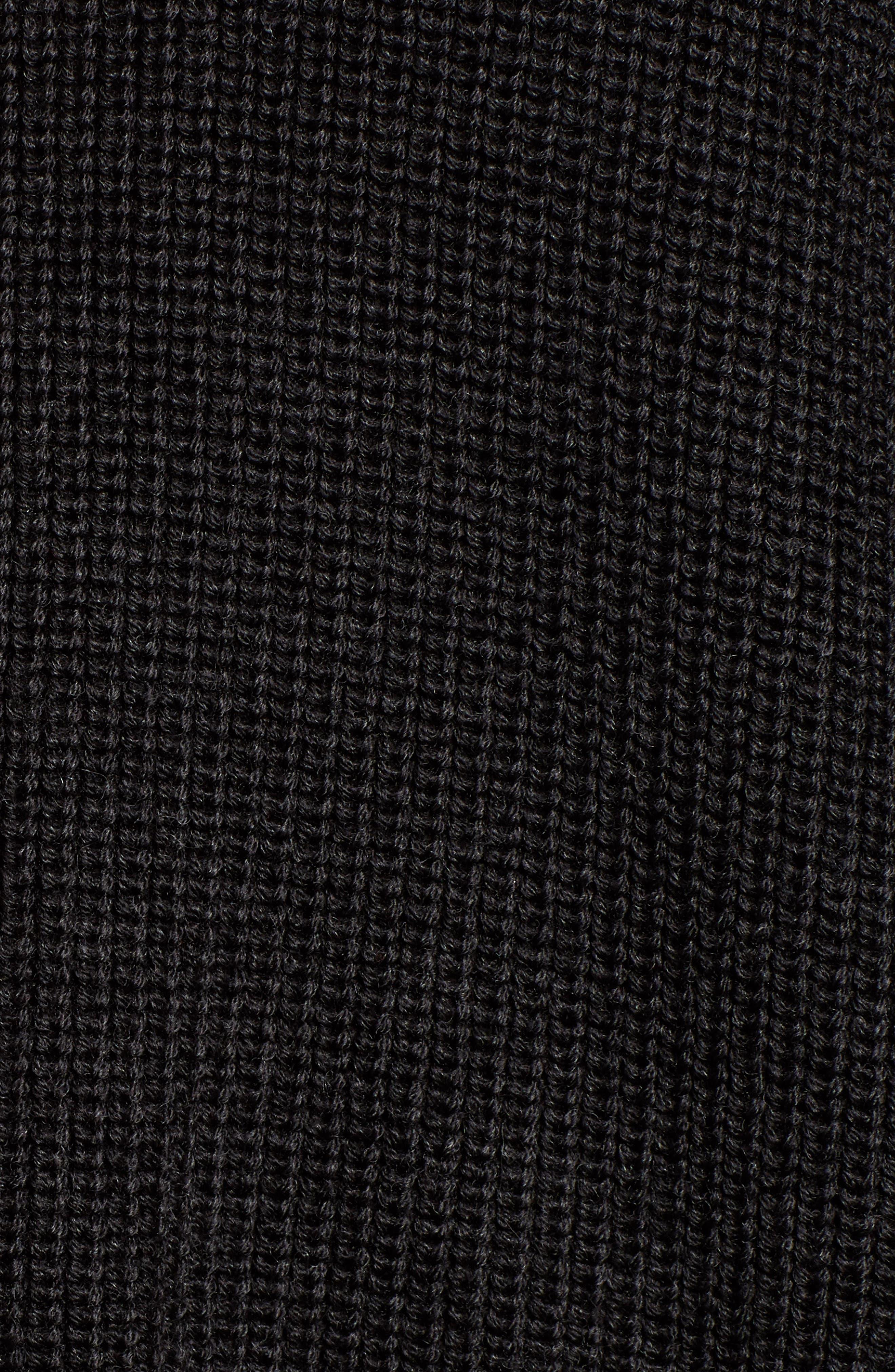 V-Neck Sweater,                             Alternate thumbnail 5, color,                             COAL