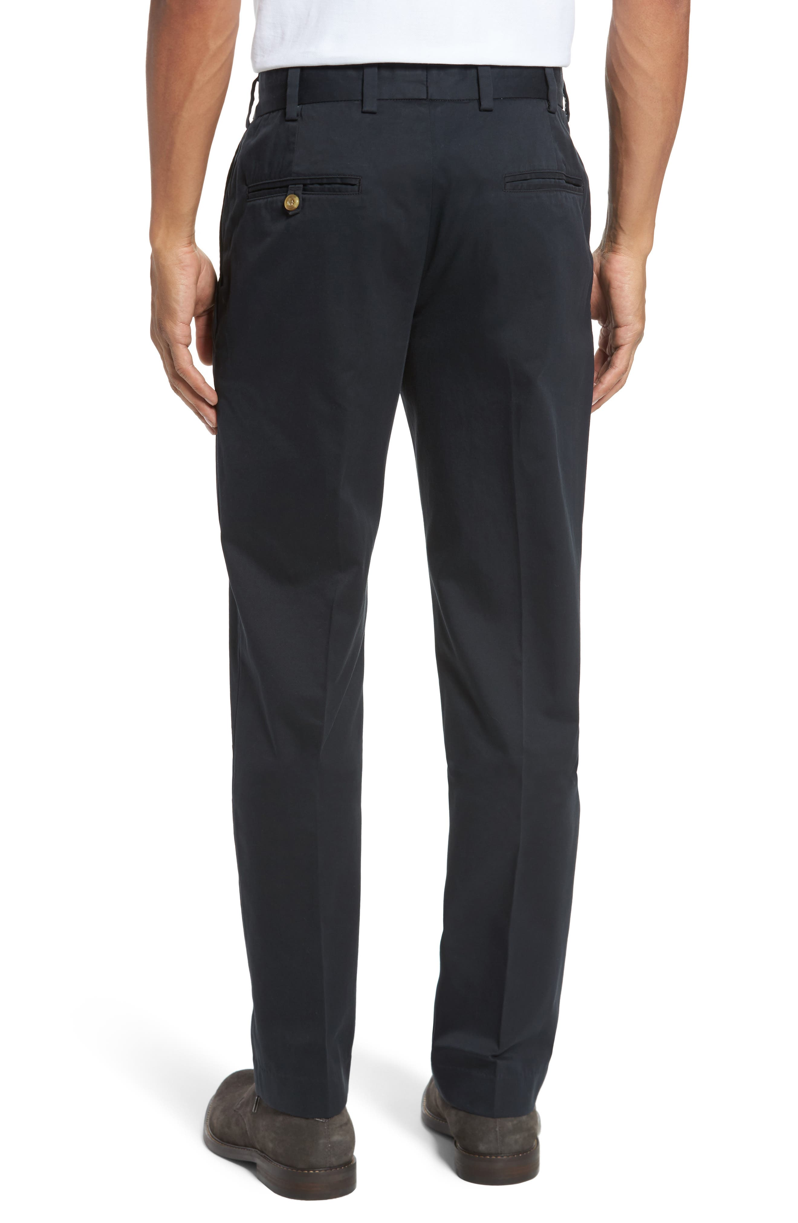 Straight Fit Chamois Cloth Pants,                             Alternate thumbnail 2, color,                             BLACK