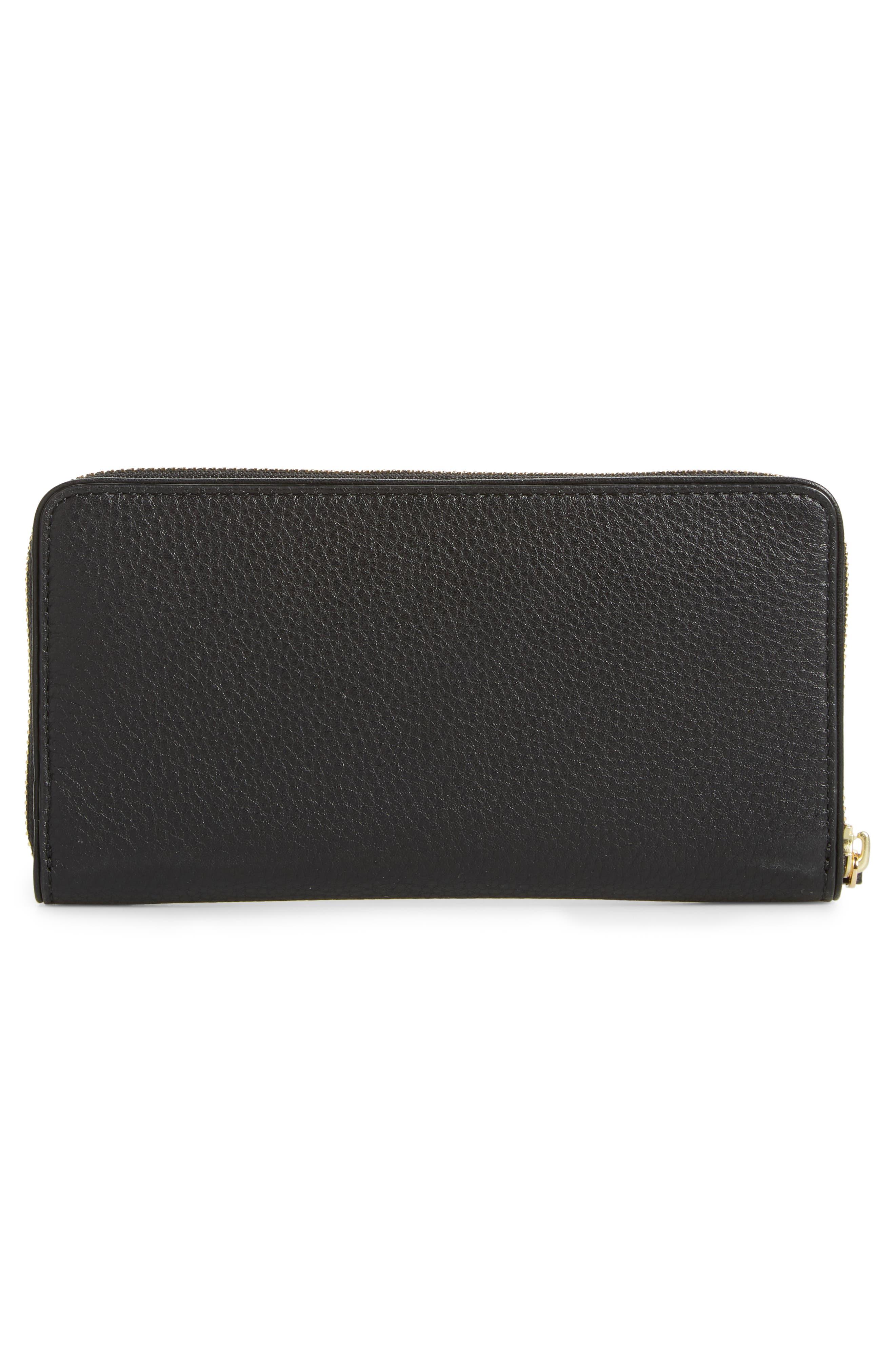 Marsden Leather Zip Around Wallet,                             Alternate thumbnail 7, color,