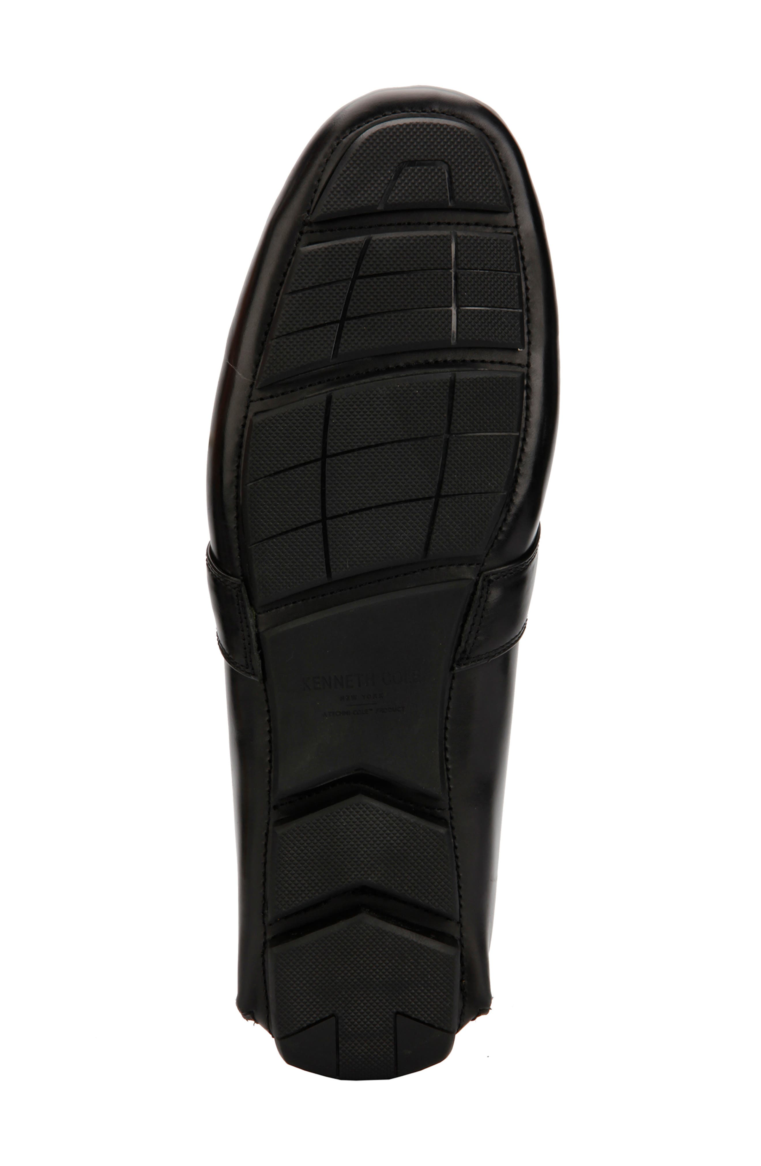 KENNETH COLE NEW YORK,                             Theme Driving Shoe,                             Alternate thumbnail 4, color,                             BLACK LEATHER