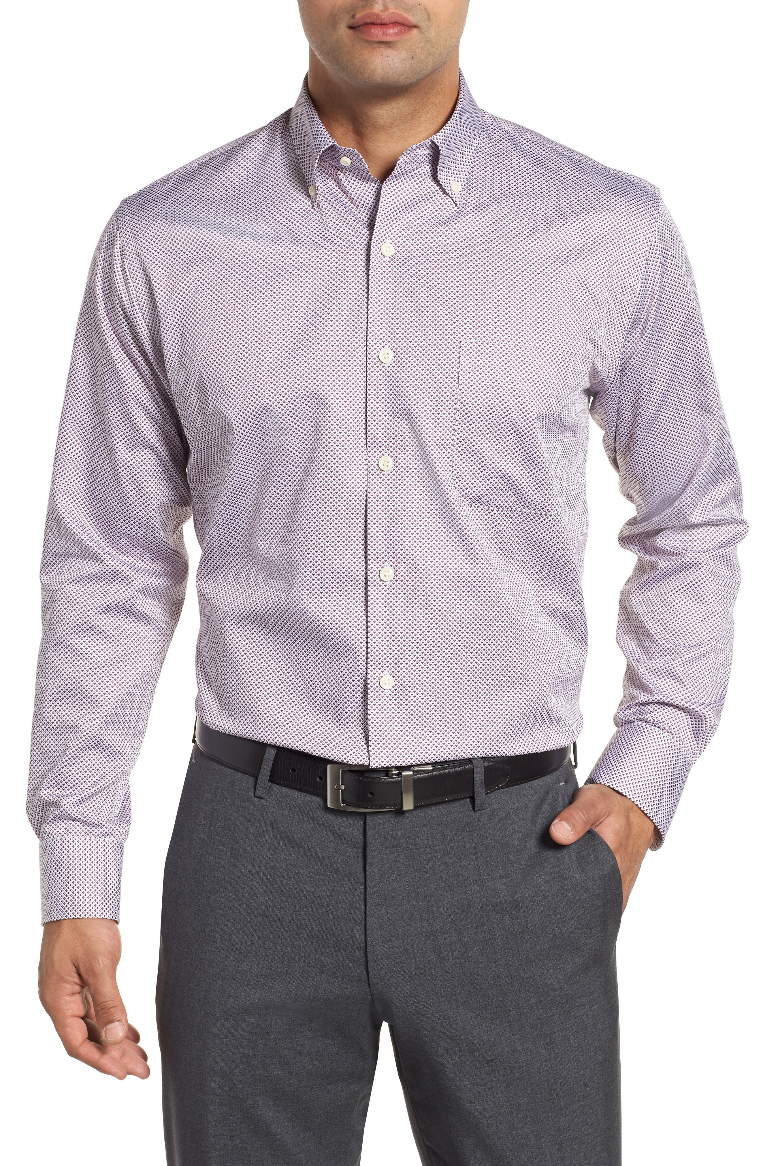 Diamond in the Rough Regular Fit Sport Shirt,                             Main thumbnail 1, color,                             WINTERBERRY
