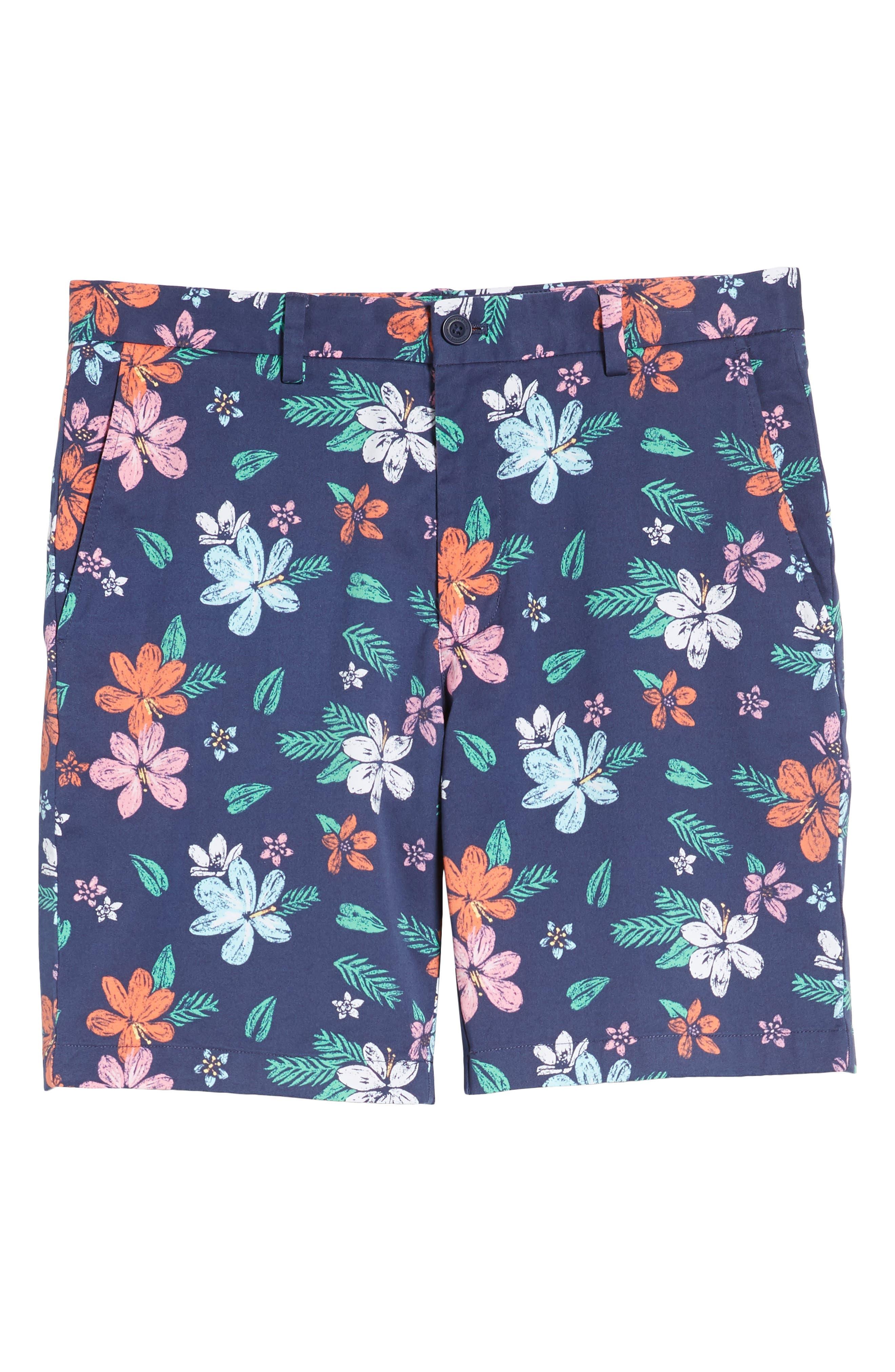 Floral Print Breaker Shorts,                             Alternate thumbnail 6, color,                             400
