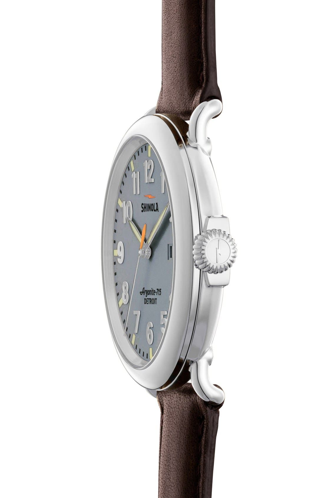 'The Runwell' Leather Strap Watch, 47mm,                             Alternate thumbnail 40, color,