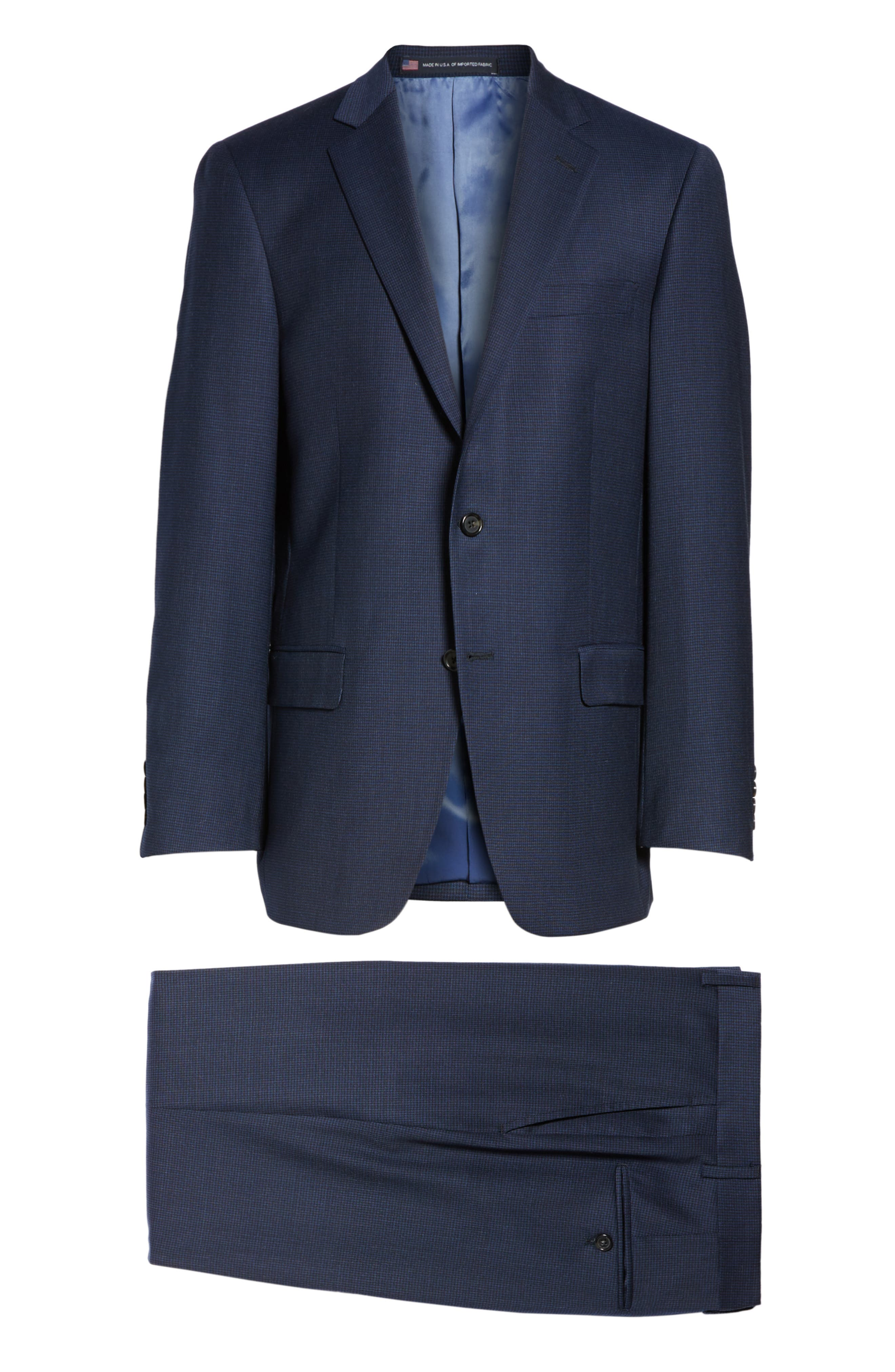 Classic Fit Check Stretch Wool Suit,                             Alternate thumbnail 8, color,                             401