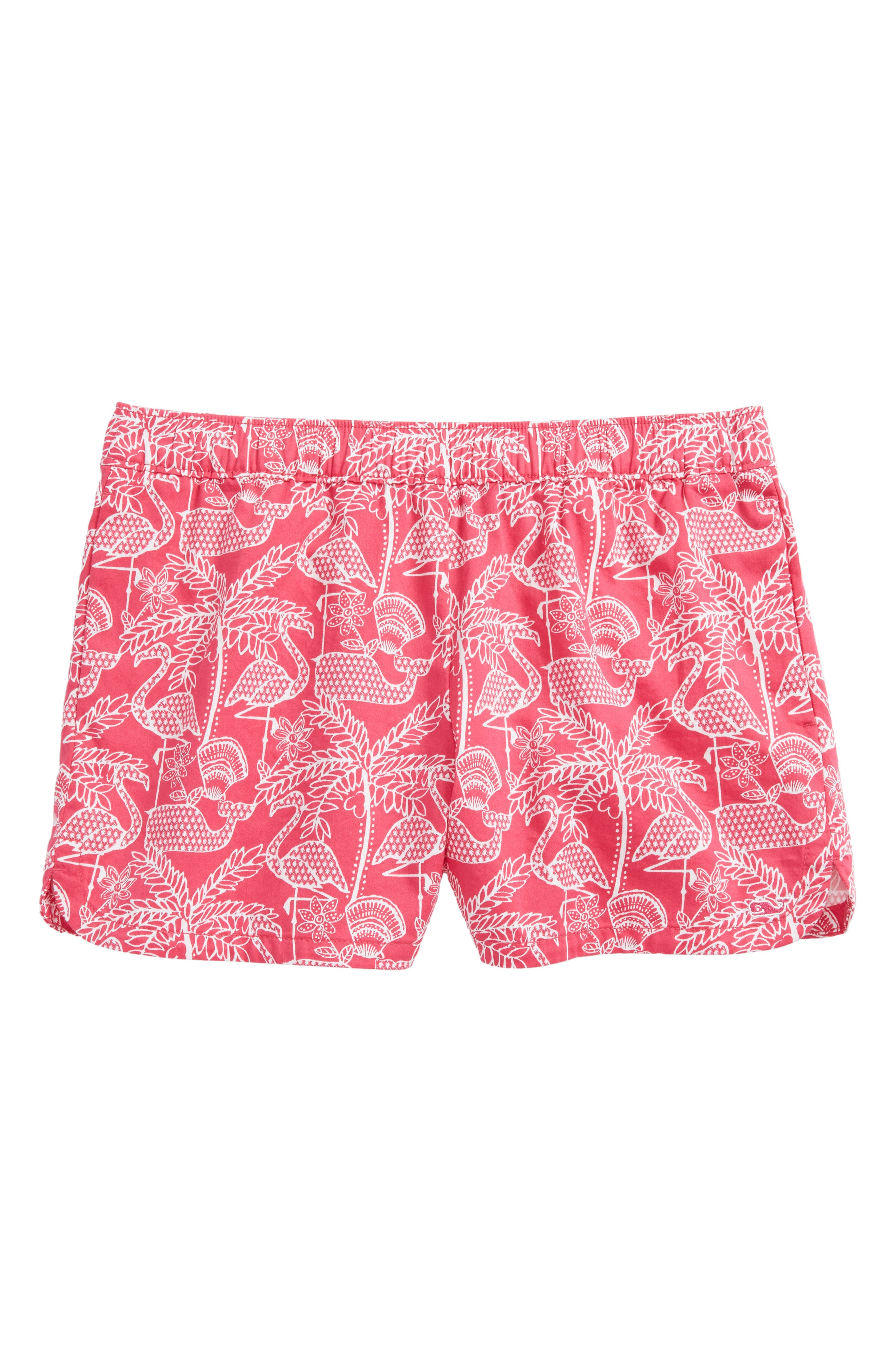 Flamingo Print Shorts,                         Main,                         color, 658