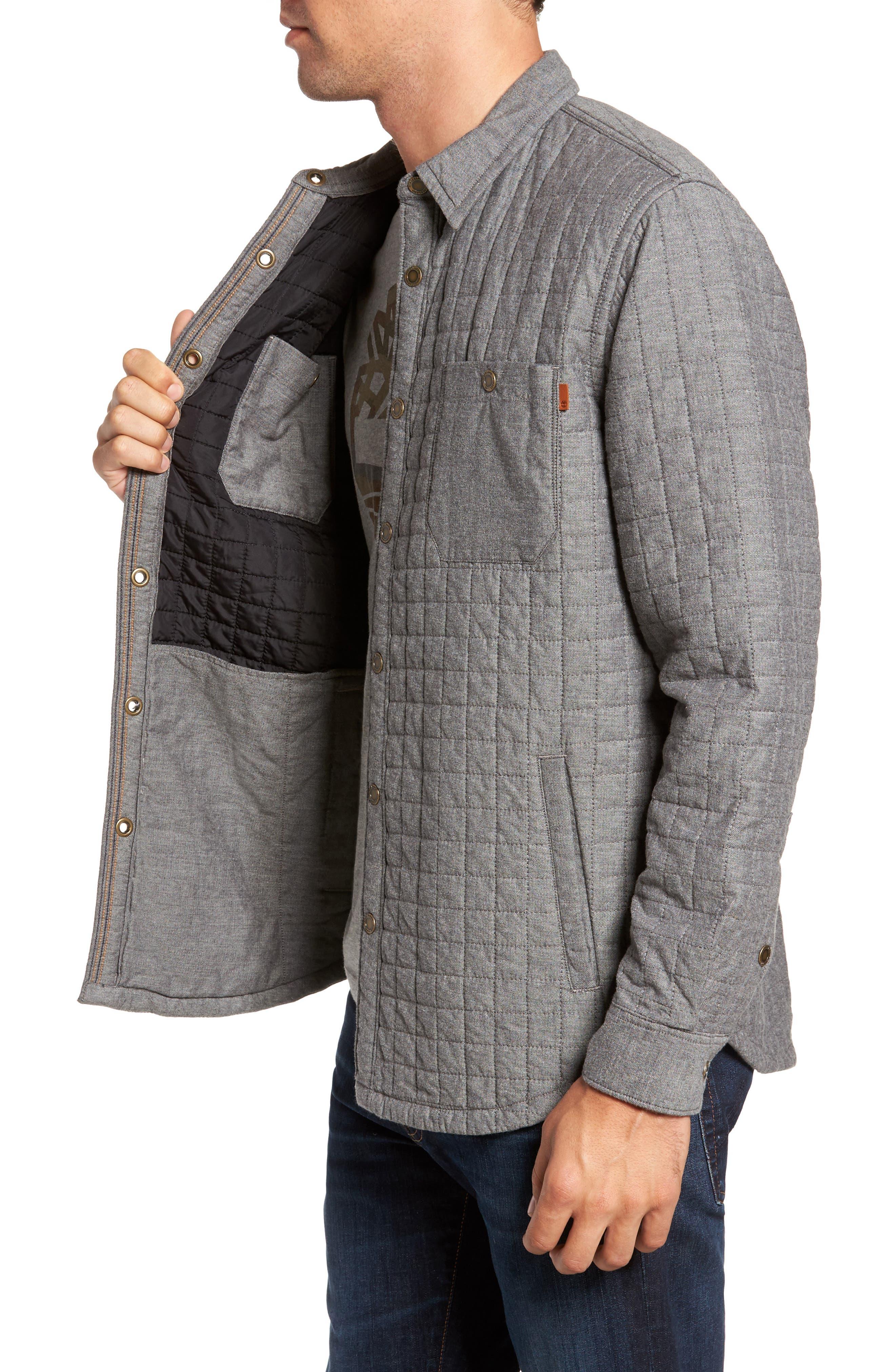 Gunstock River Lightweight Quilted Shirt Jacket,                             Alternate thumbnail 3, color,                             001