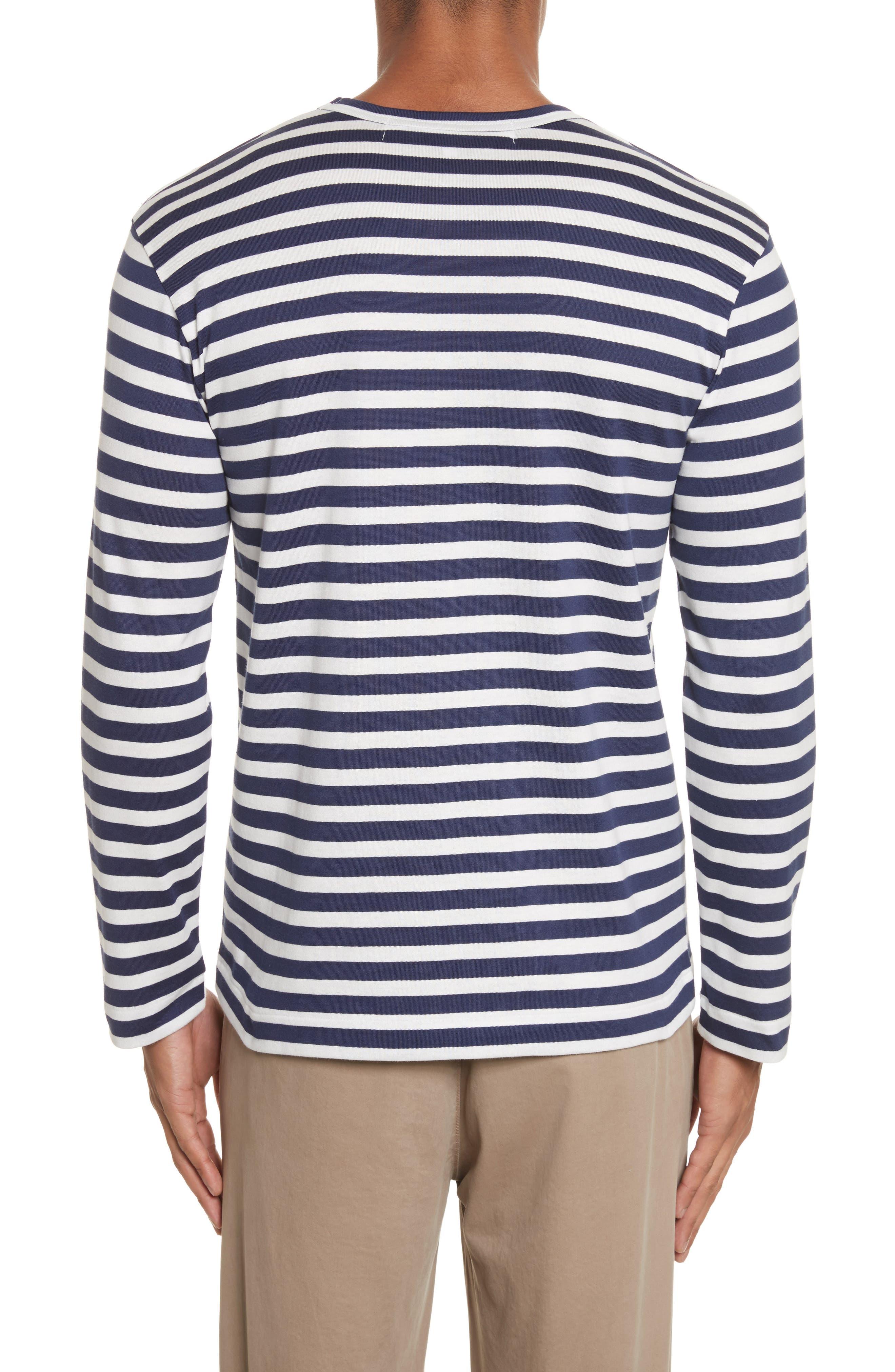Stripe Long Sleeve T-Shirt,                             Alternate thumbnail 2, color,                             415