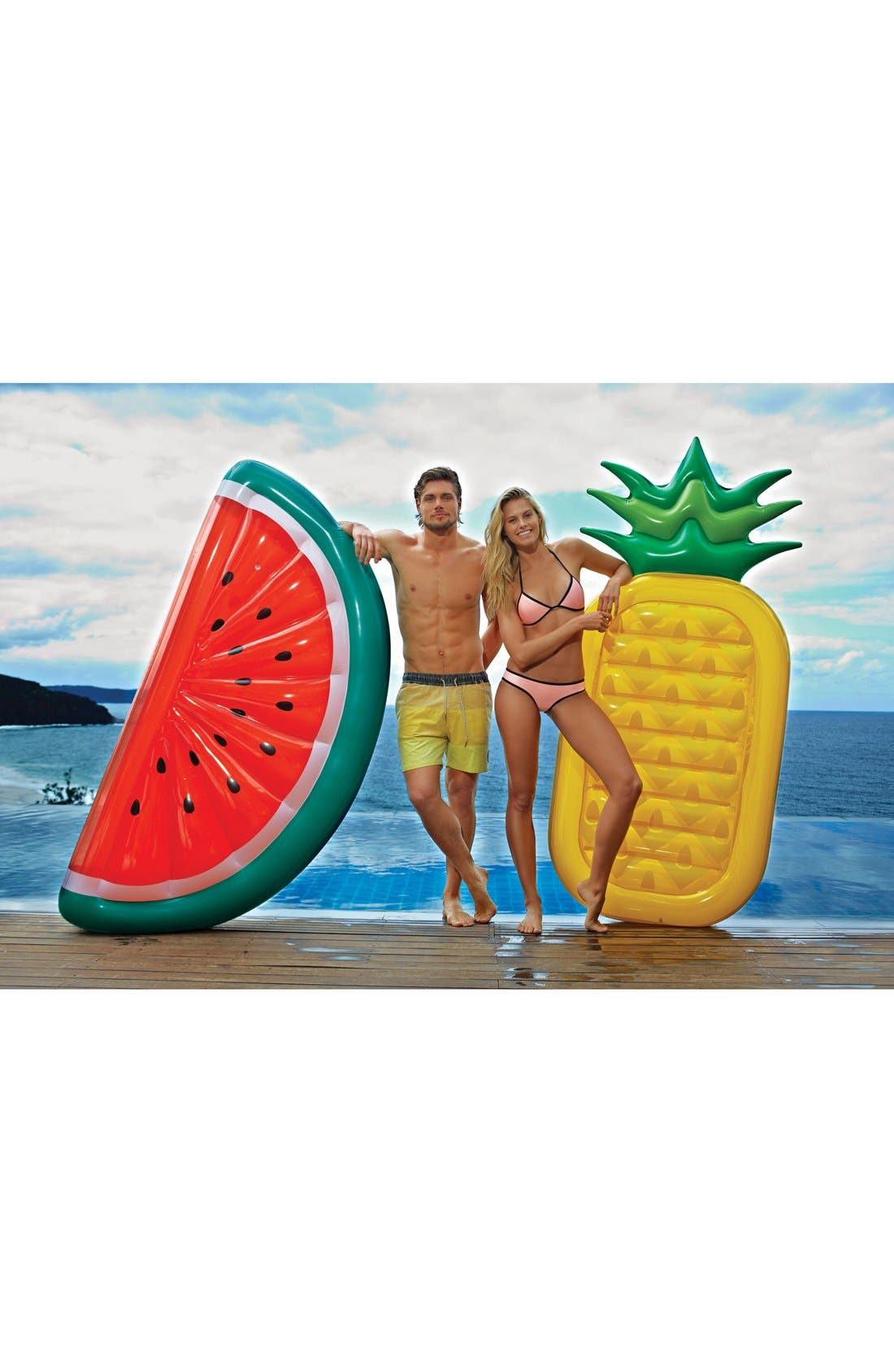 'Really Big' Inflatable Watermelon Pool Float,                             Alternate thumbnail 2, color,