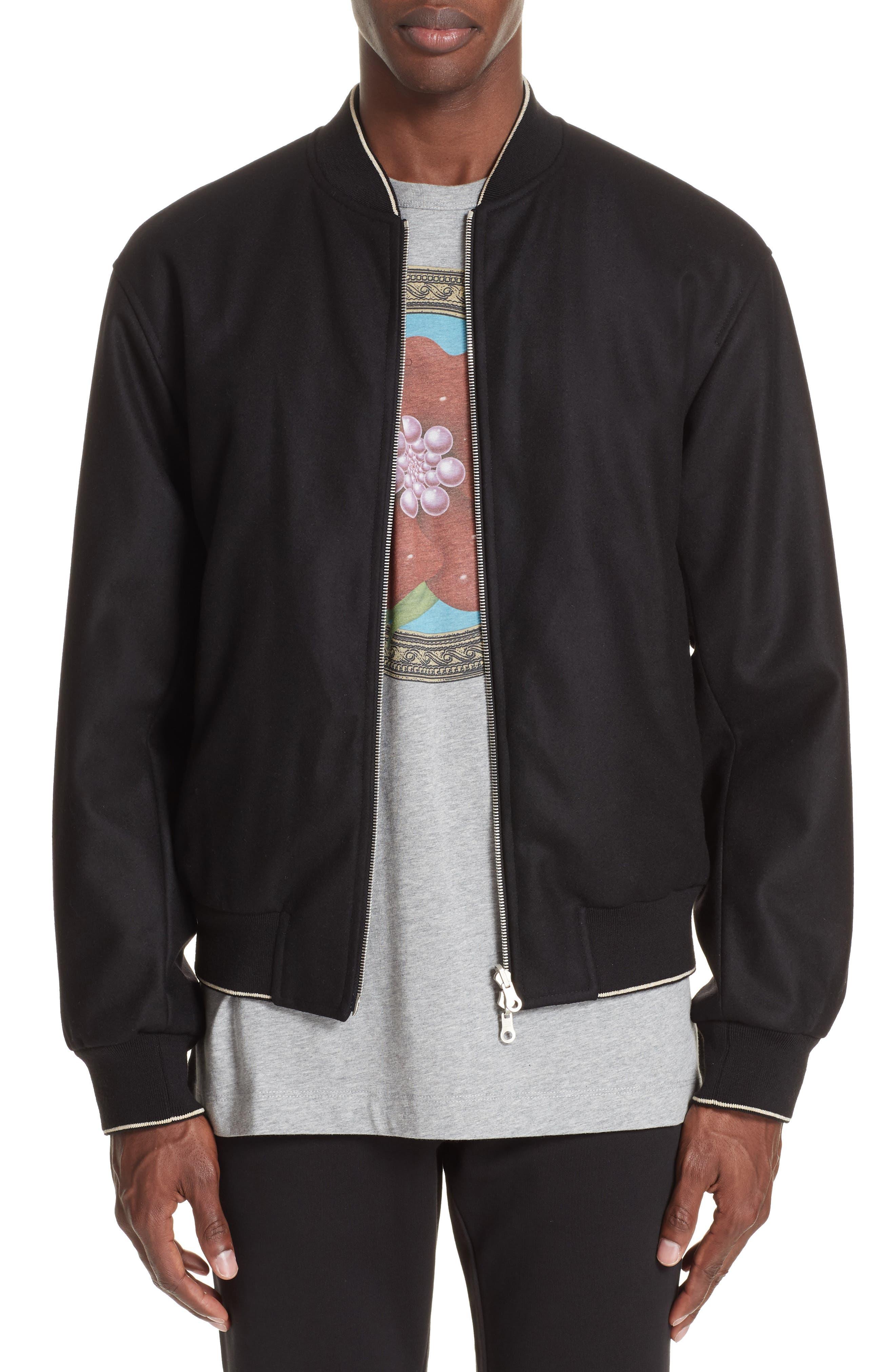 Vulker Reversible Bomber Jacket,                         Main,                         color, BLACK