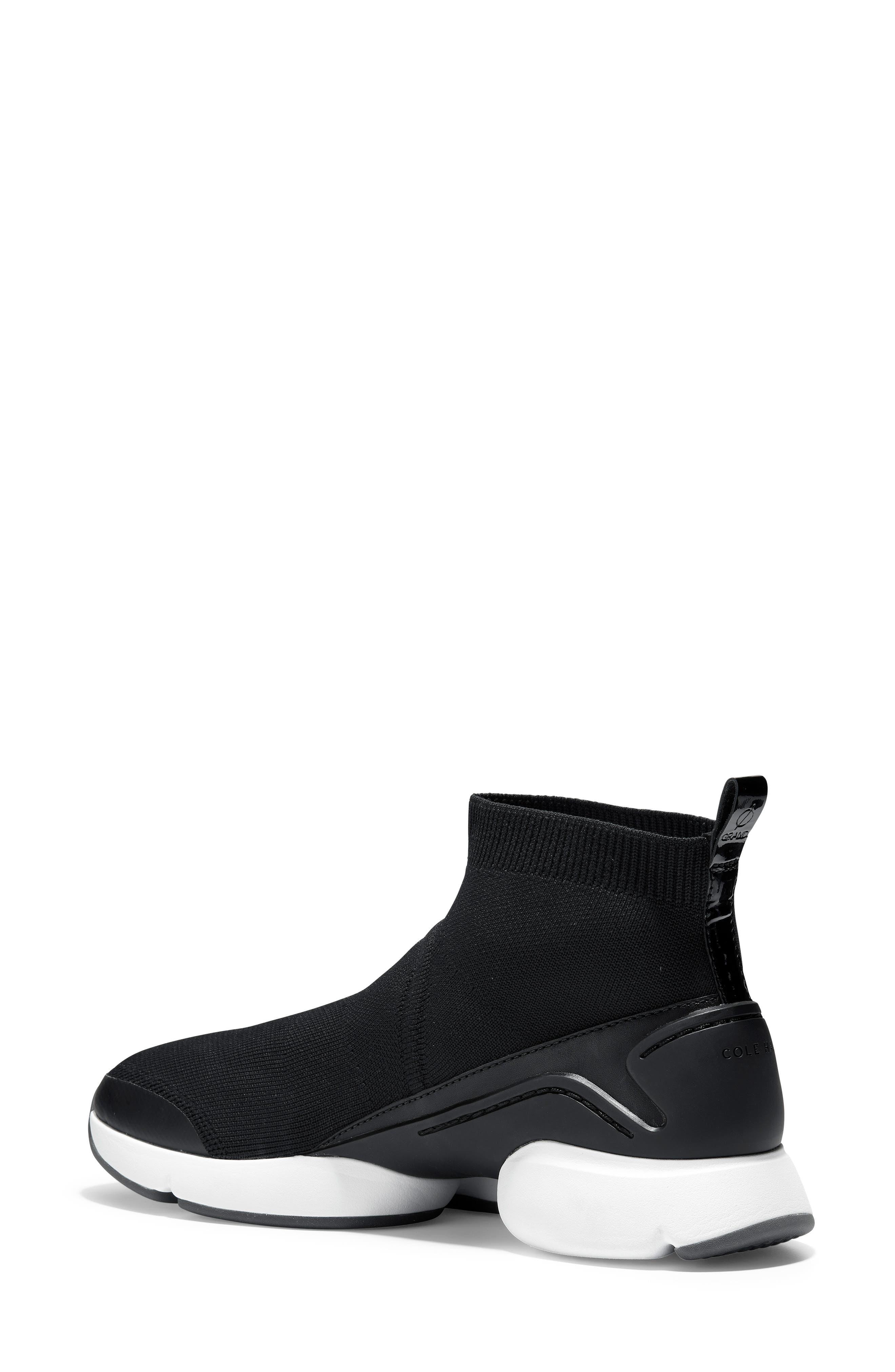 ZeroGrand Motion Slip-On Sneaker,                             Alternate thumbnail 2, color,                             BLACK LEATHER