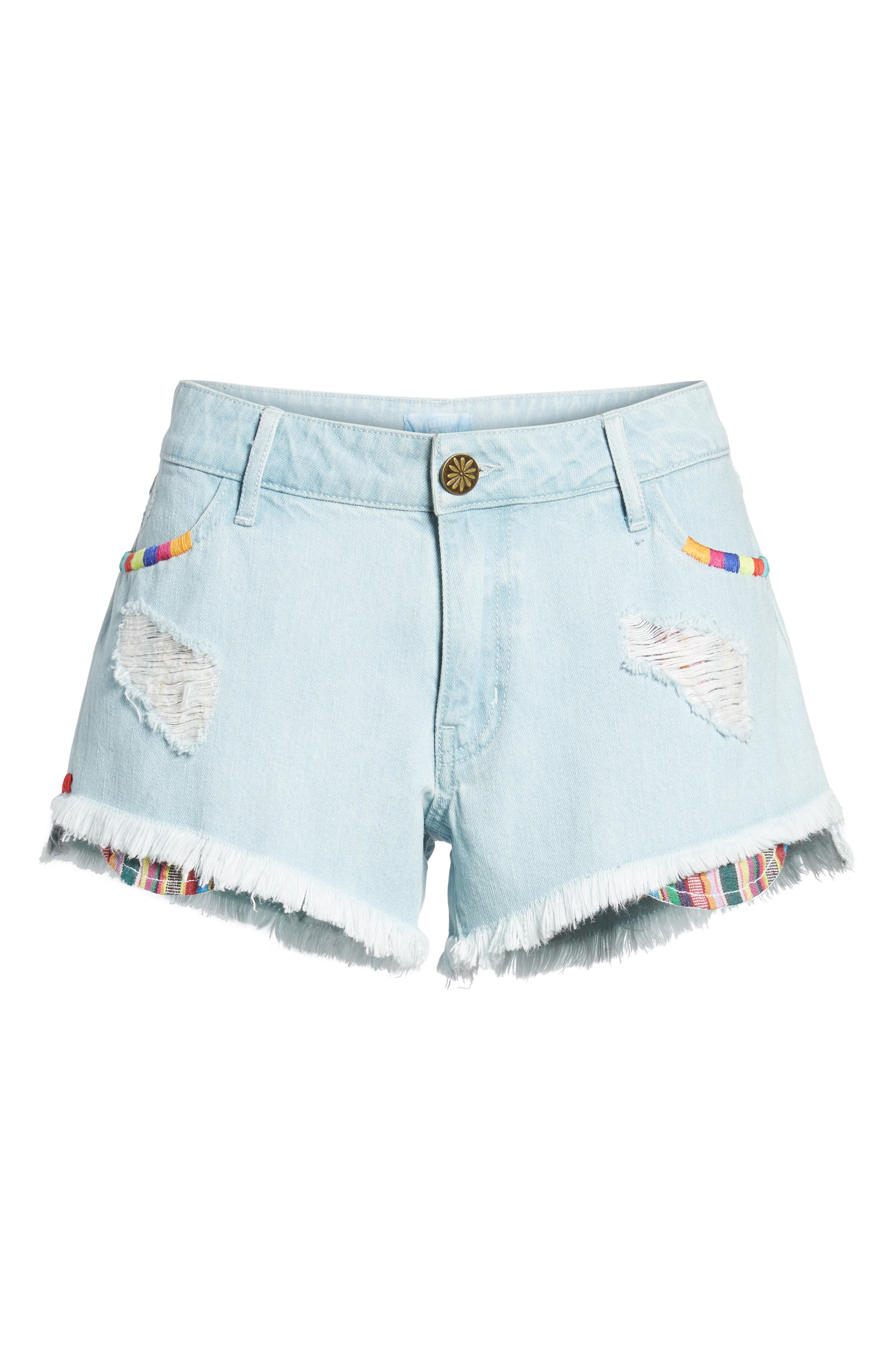 Cabo Cutoff Denim Shorts,                             Alternate thumbnail 6, color,                             400