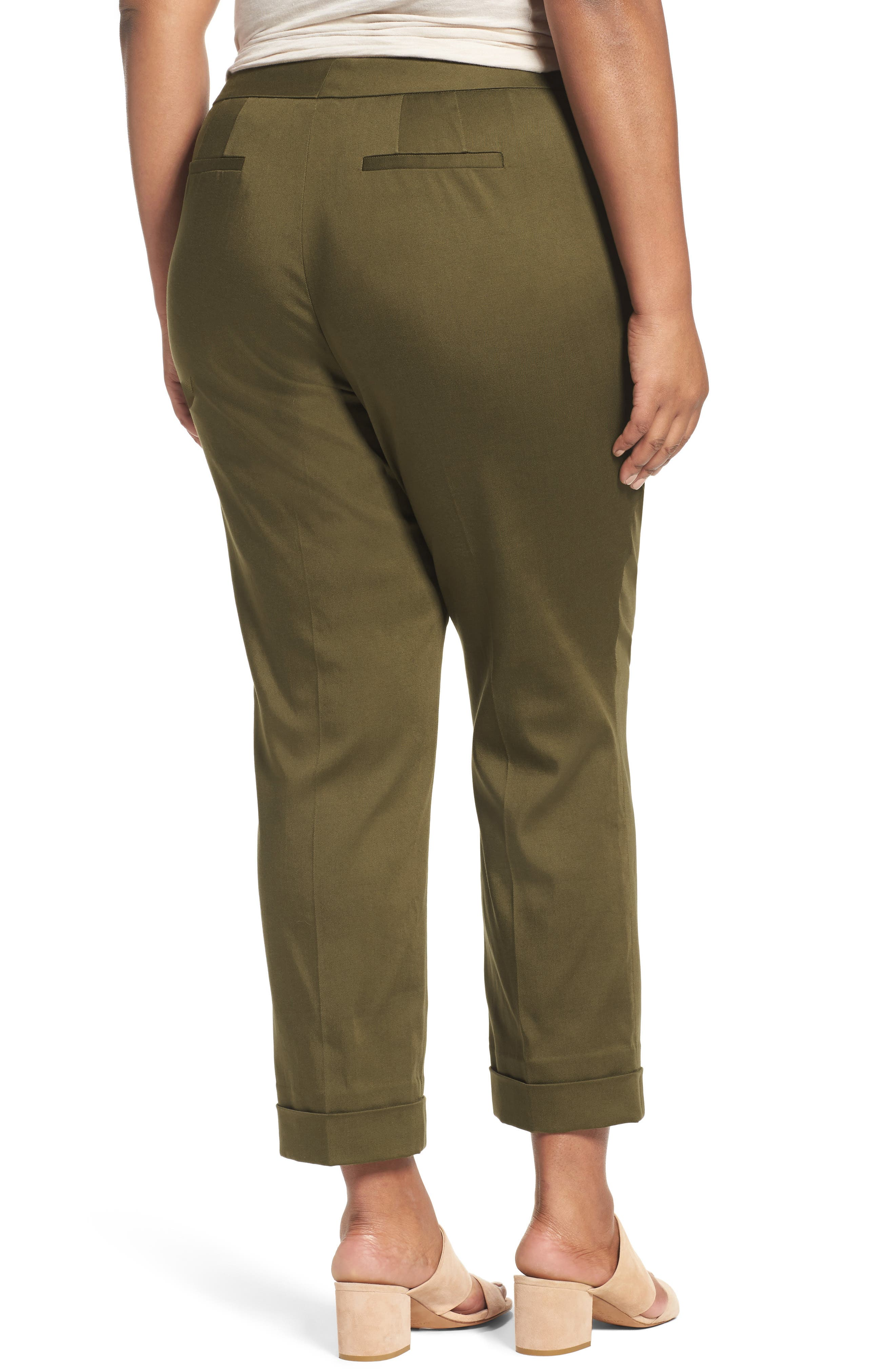 Stretch Twill Ankle Pants,                             Alternate thumbnail 7, color,
