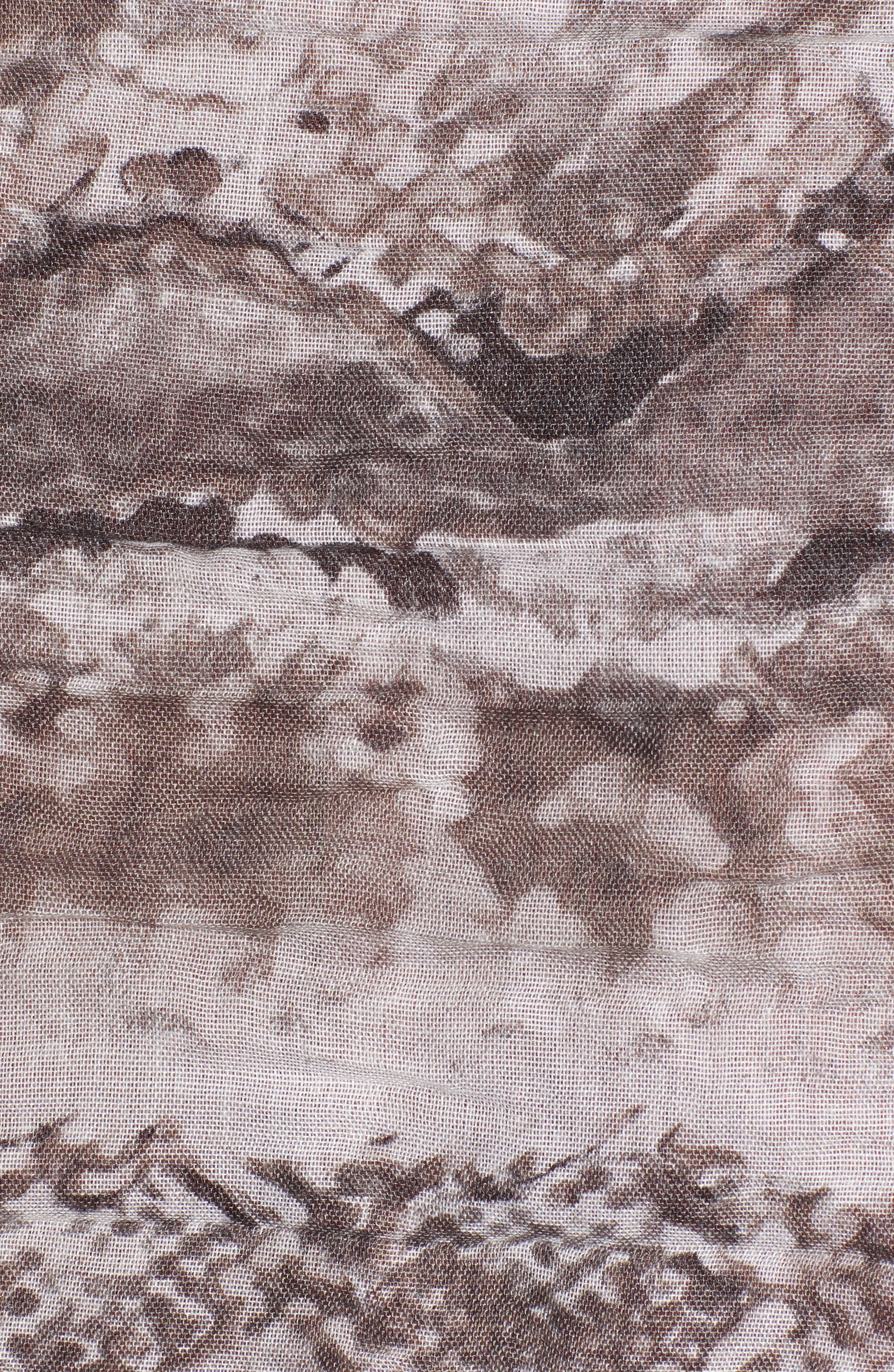 Print Tassel Scarf,                             Alternate thumbnail 5, color,                             001