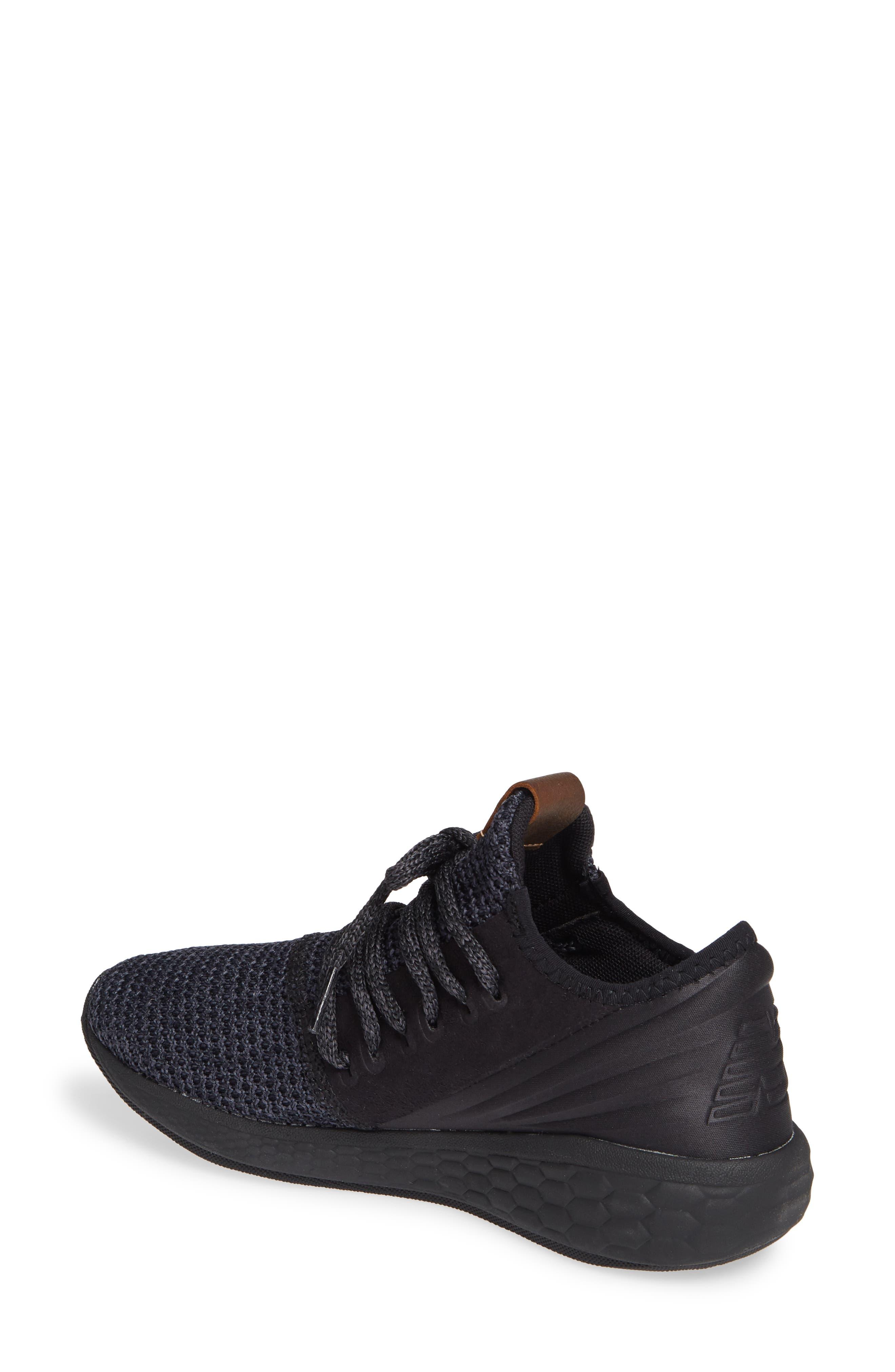 Fresh Foam Cruz Knit Running Shoe,                             Alternate thumbnail 2, color,                             BLACK/ BLACK