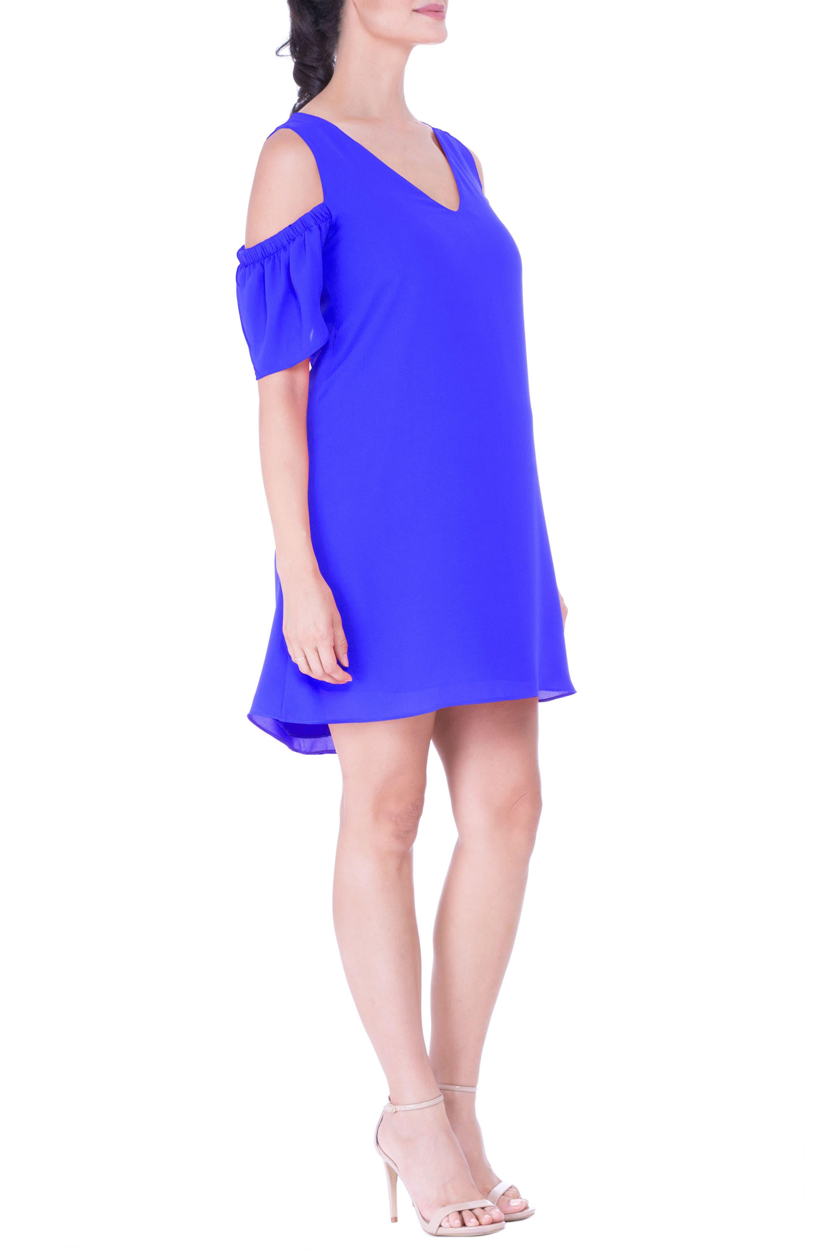 Cold Shoulder Maternity Dress,                             Alternate thumbnail 3, color,                             420