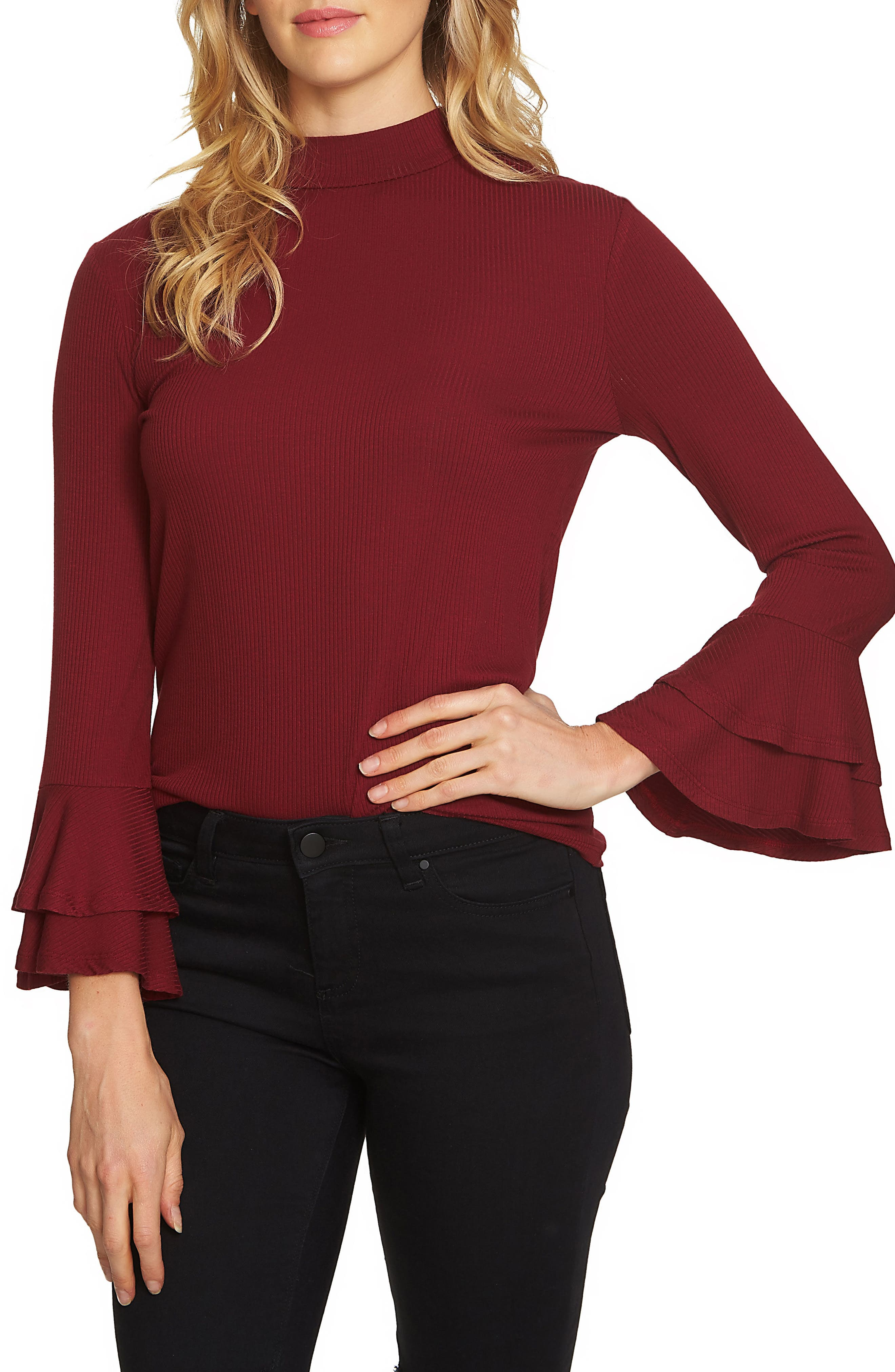 Bell Sleeve Top,                             Main thumbnail 4, color,