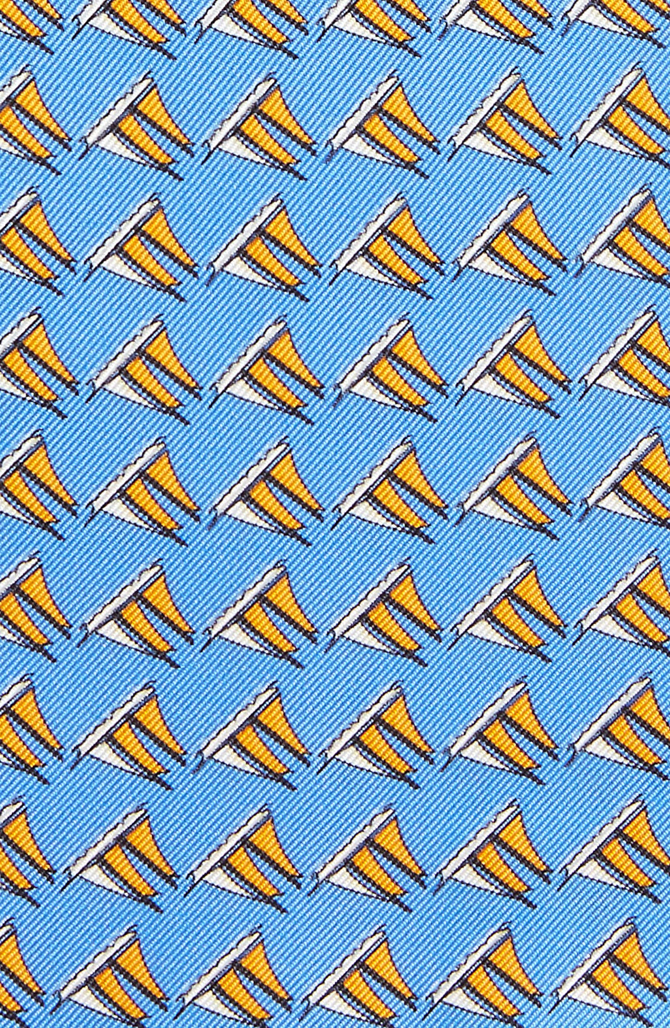 Three Sheets to the Wind Silk Pocket Square,                             Alternate thumbnail 3, color,                             BLUE