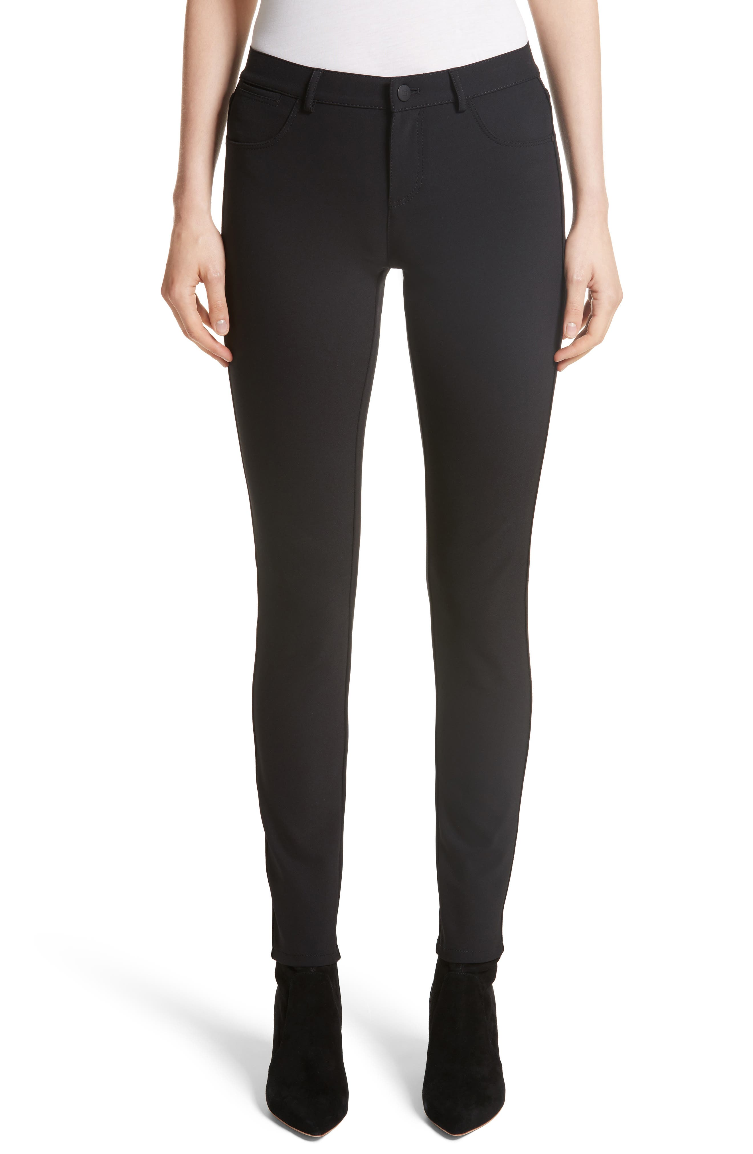 Mercer Acclaimed Stretch Mid-Rise Skinny Jeans in Black