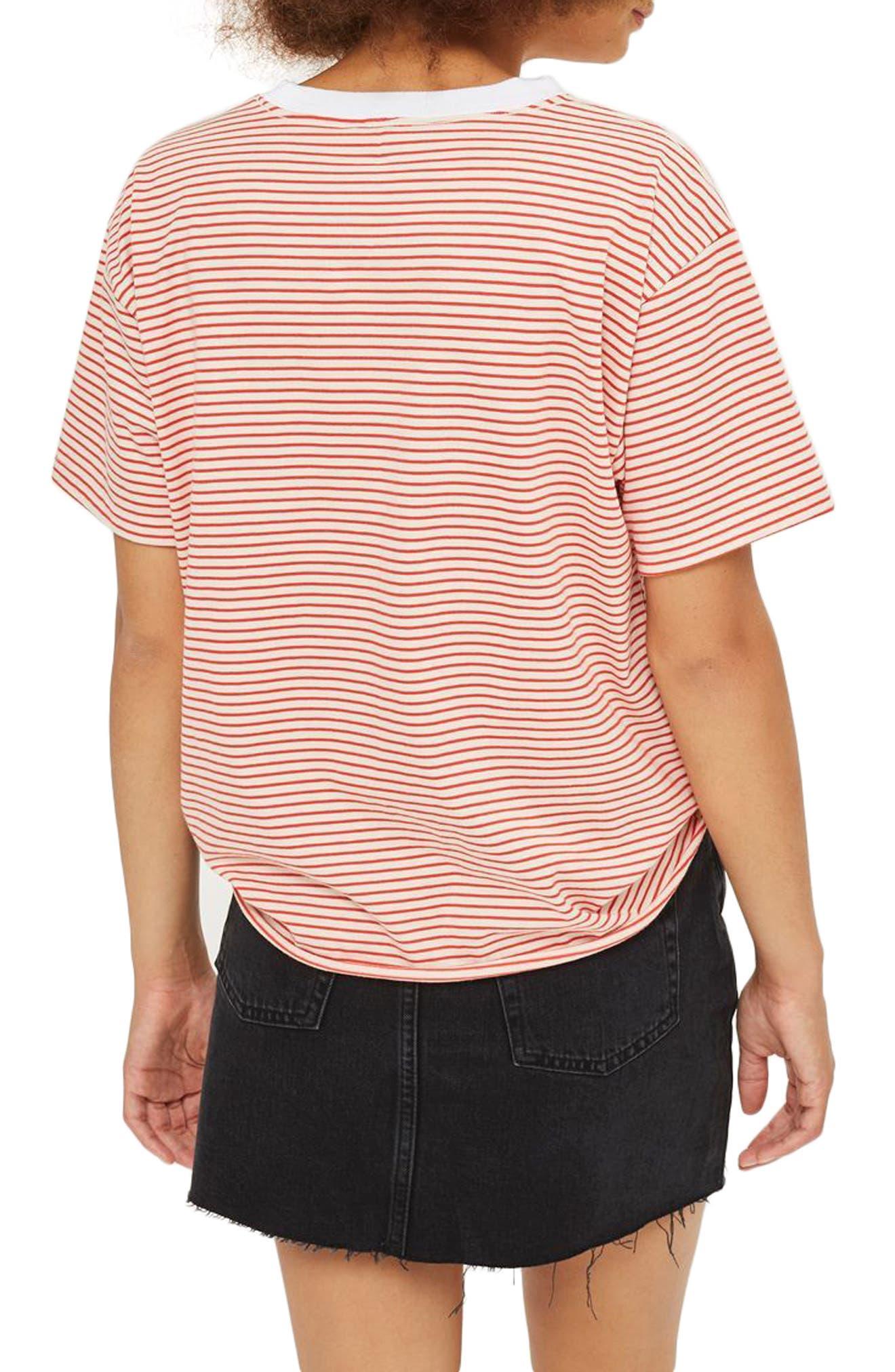 Frayed Hem Denim Miniskirt,                             Alternate thumbnail 4, color,