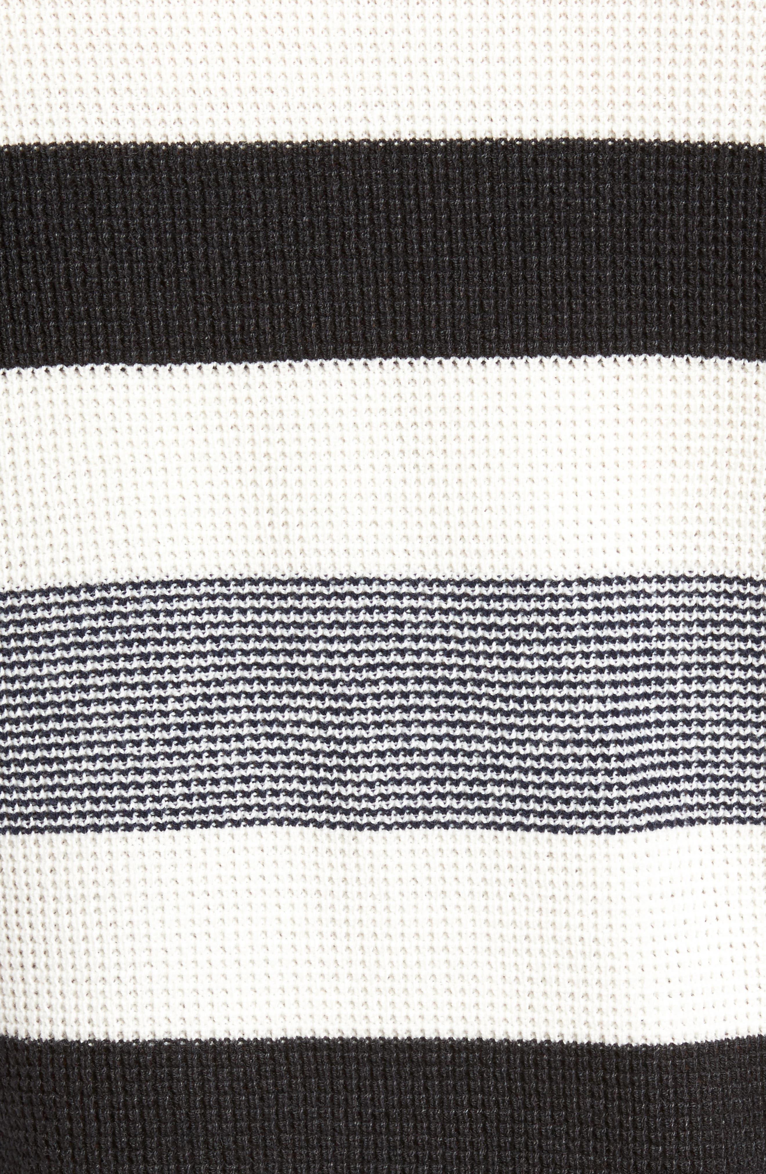 Stripe Waffle Knit Sweater,                             Alternate thumbnail 5, color,
