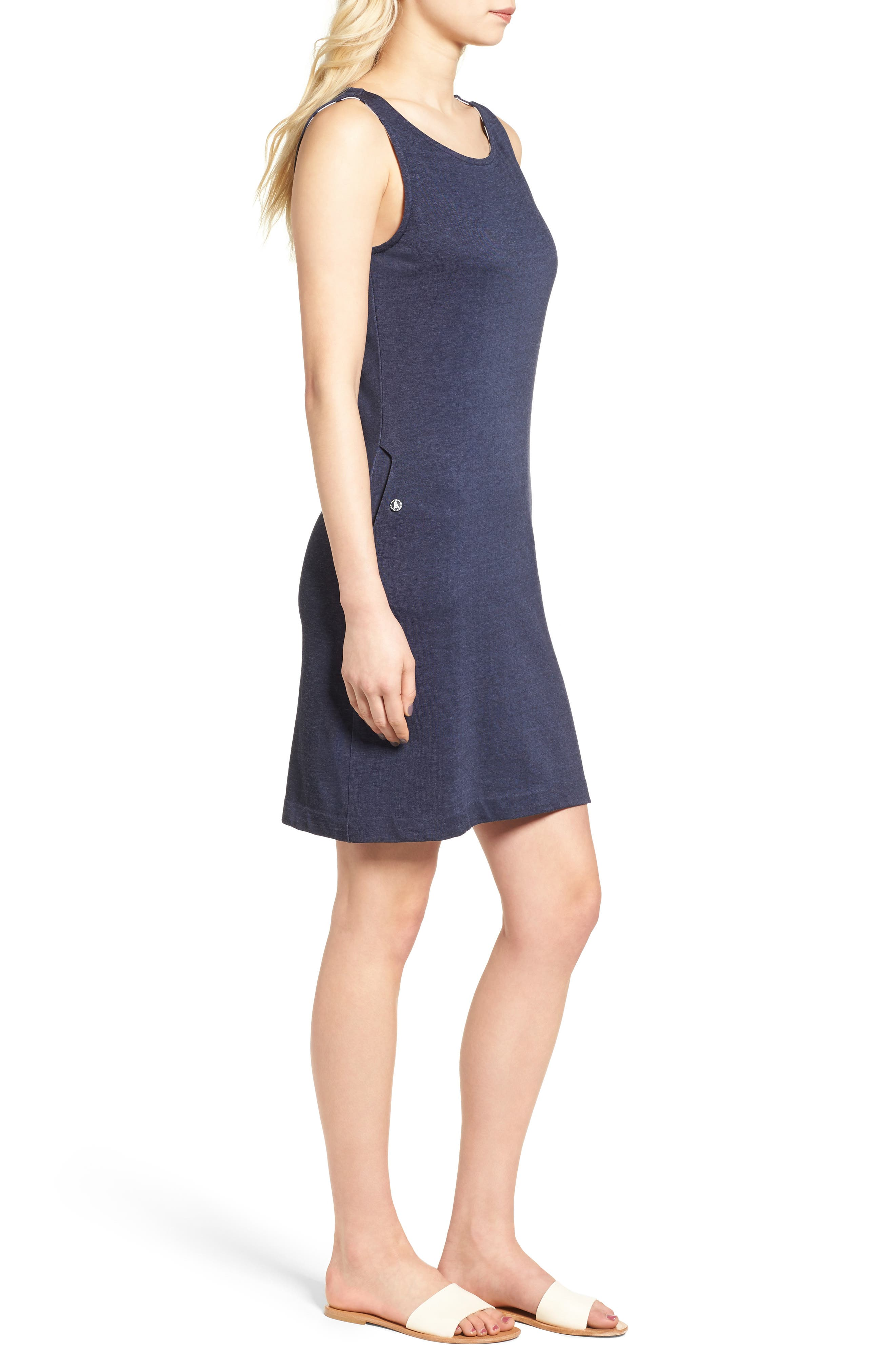 Dolostone Jersey Shift Dress,                             Alternate thumbnail 3, color,                             410