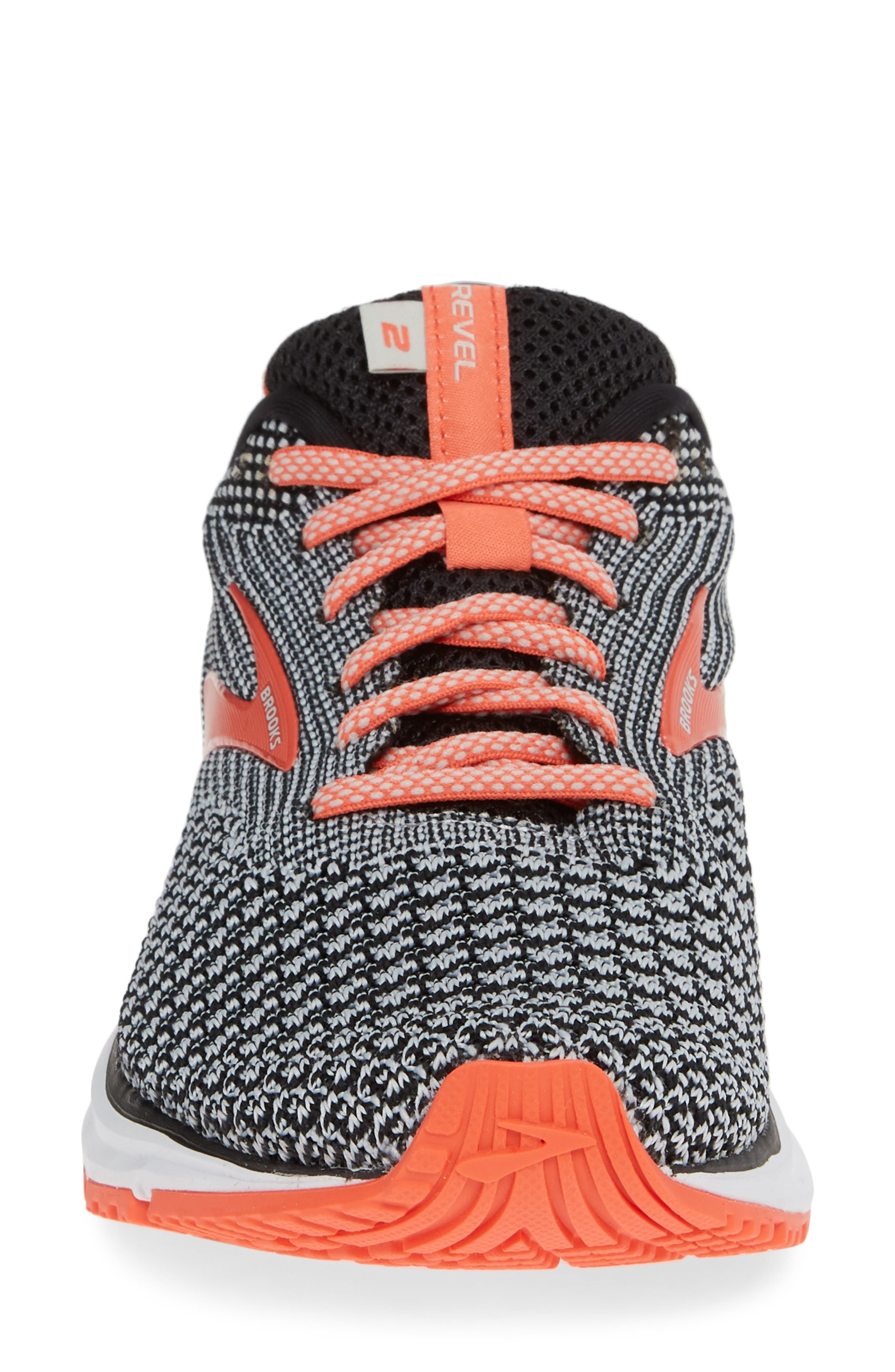 Revel 2 Running Shoe,                             Alternate thumbnail 4, color,                             BLACK/ LIGHT GREY/ CORAL