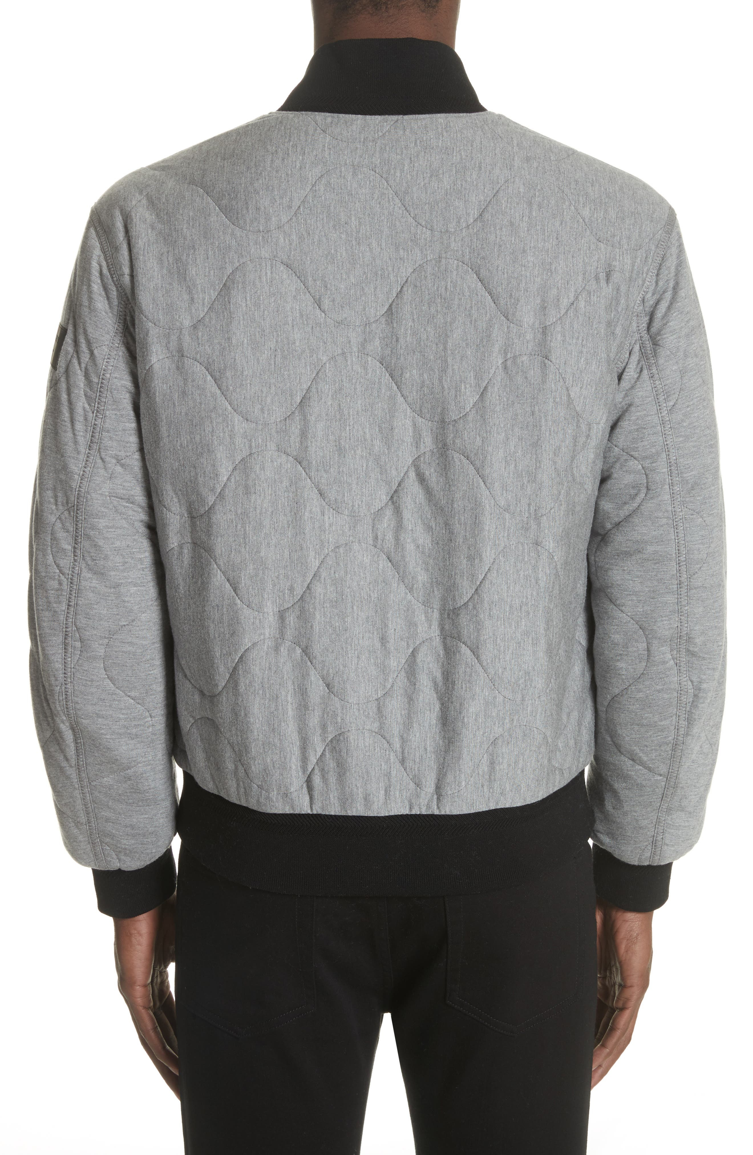 Campton Reversible Quilted Jersey Bomber Jacket,                             Alternate thumbnail 3, color,                             031