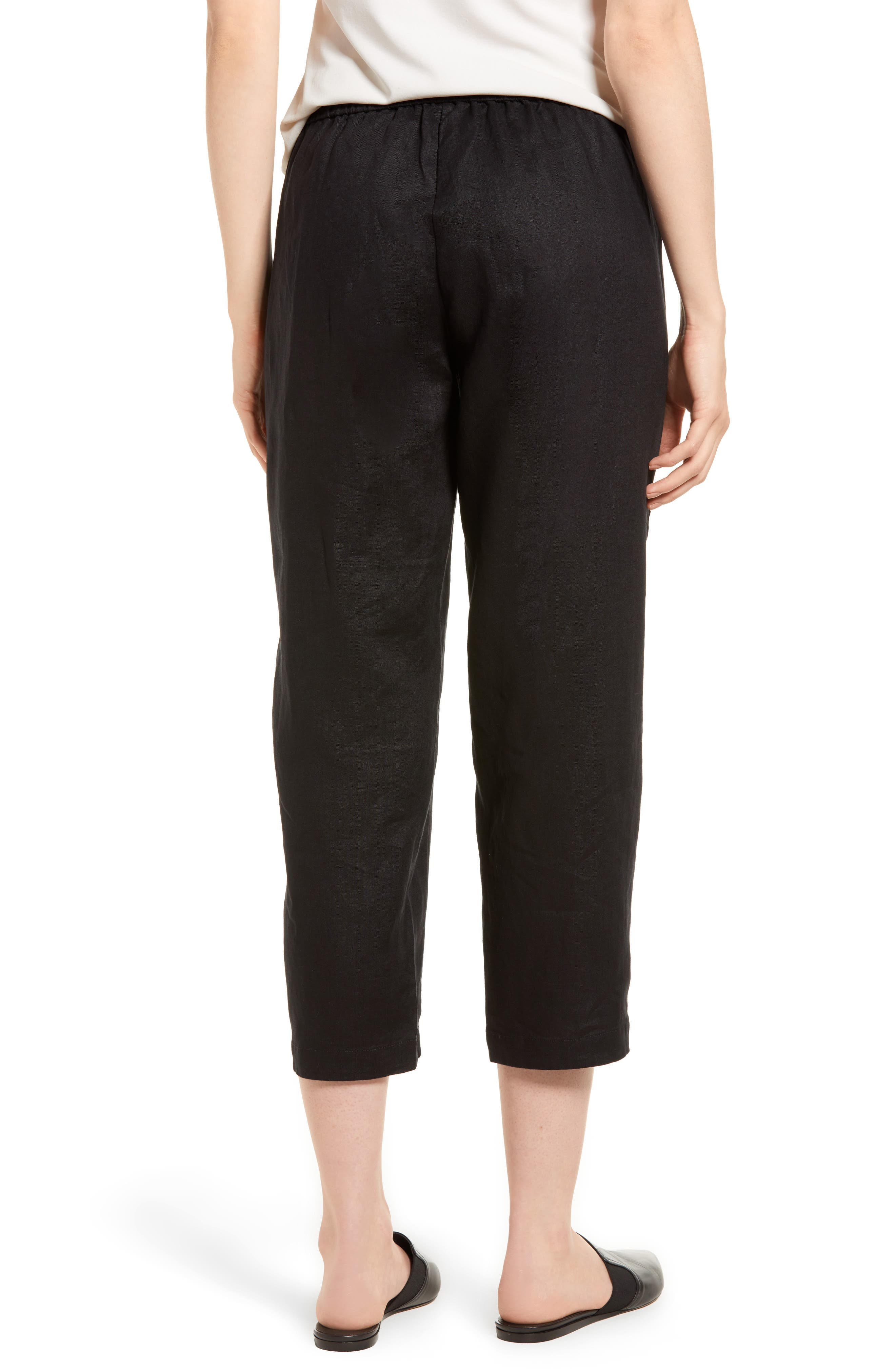 Organic Linen Crop Pants,                             Alternate thumbnail 6, color,