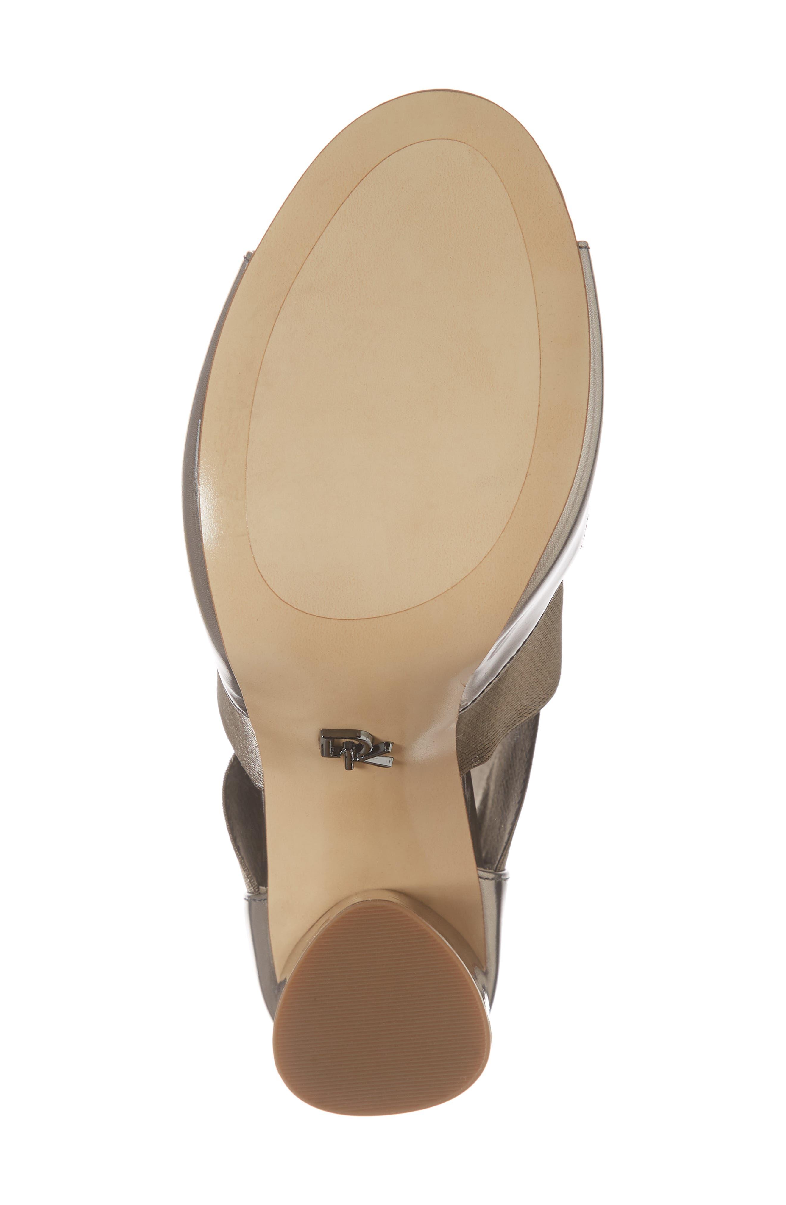Donna Karan Briana Strappy High Sandal,                             Alternate thumbnail 6, color,                             DARK PEWTER