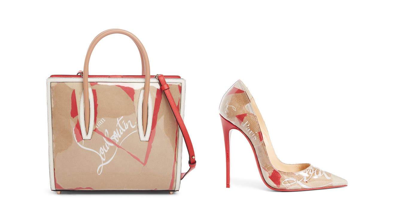 New from Christian Louboutin: the Kraft collection of designer shoes and handbags.
