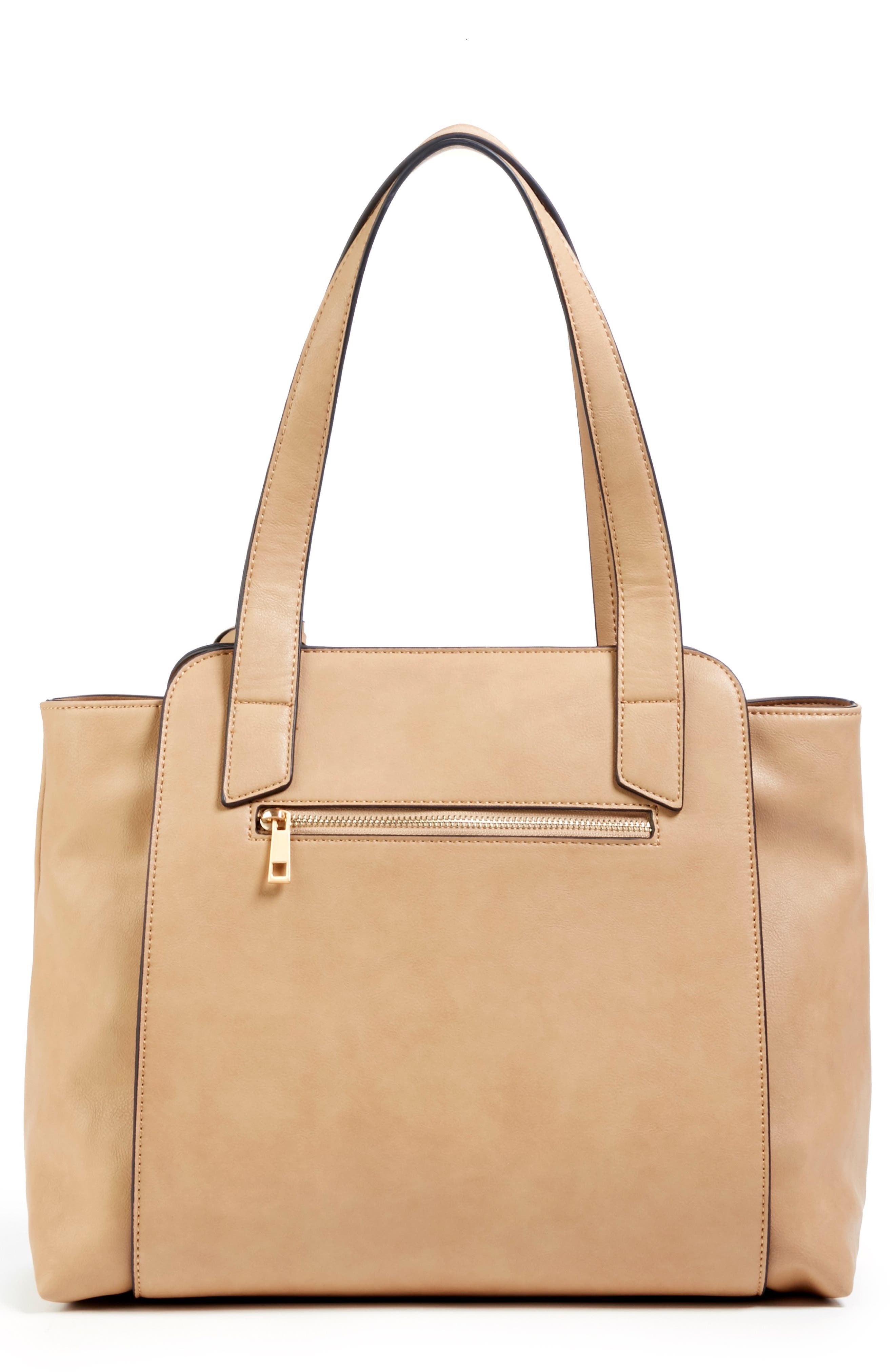 Faux Leather Tote,                             Main thumbnail 2, color,