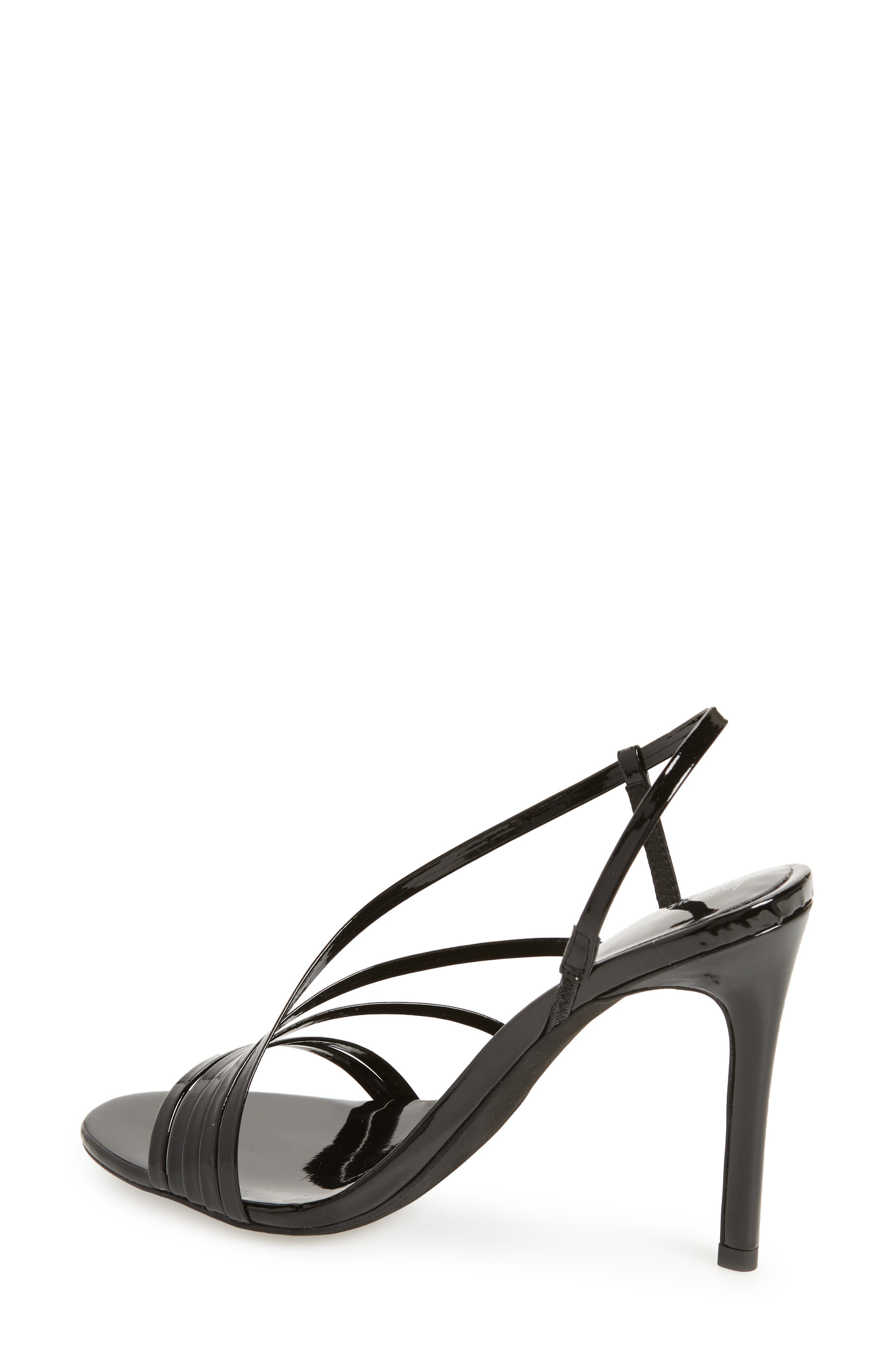 Lilian Asymmetrical Strappy Sandal,                             Alternate thumbnail 2, color,                             001